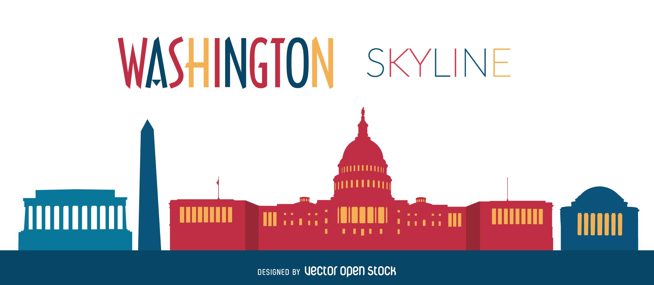 Washington skyline illustration - Vector download
