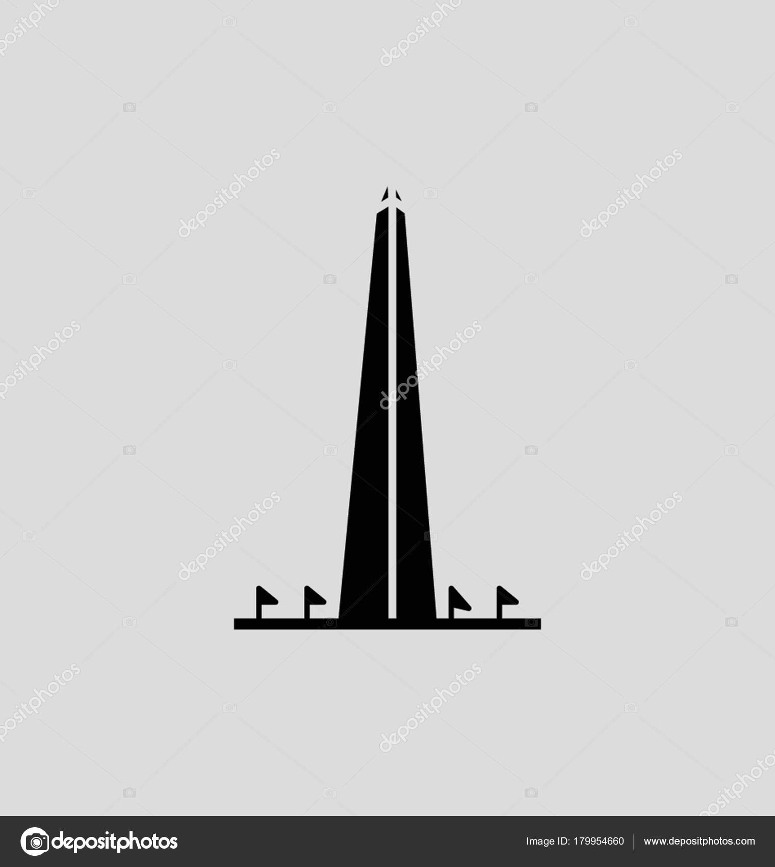 Washington monument silhouette photo