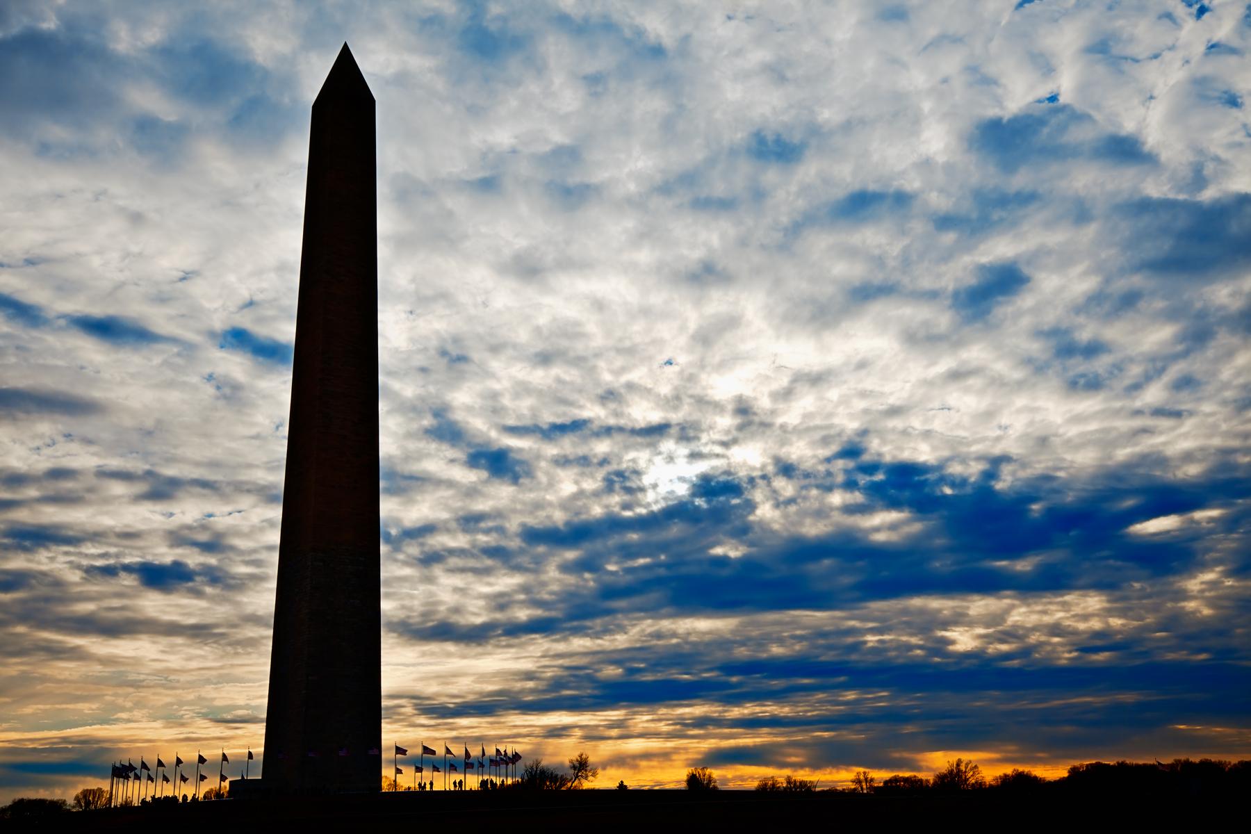 Washington Monument Silhouette, America, Sundown, Pride, Resource, HQ Photo