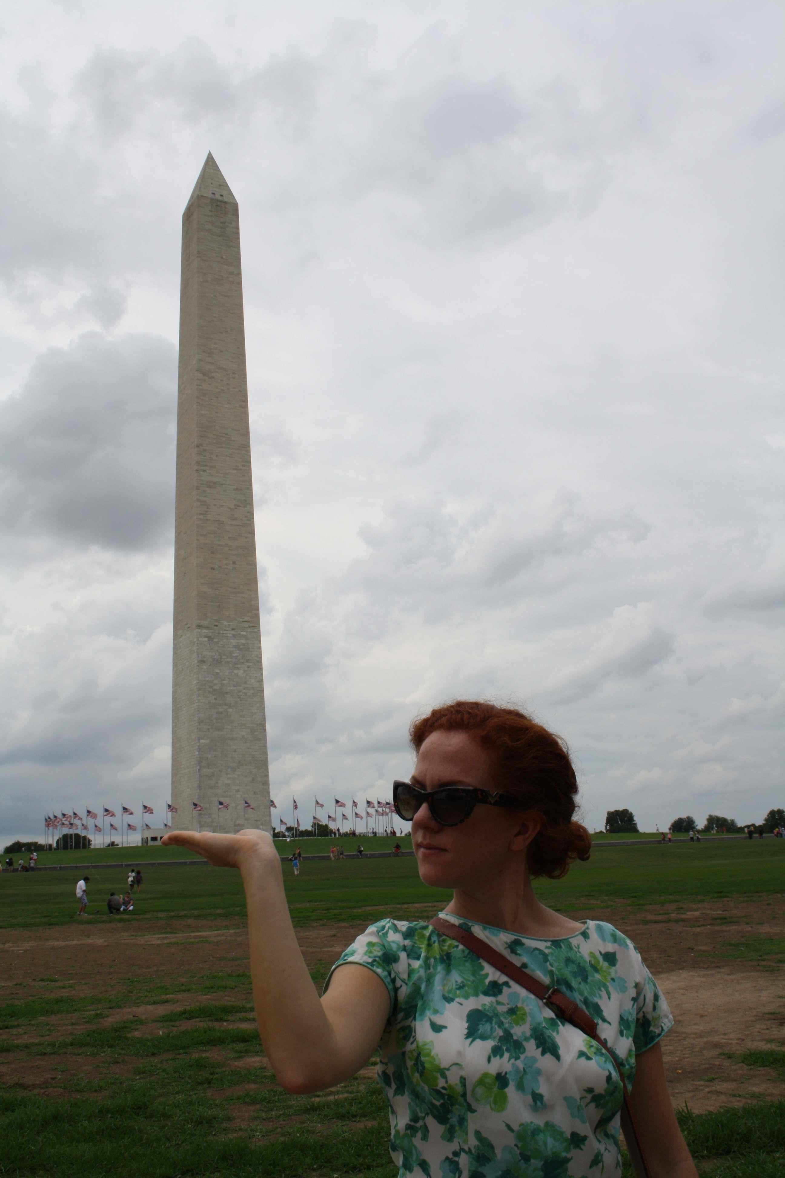 Washington Monument and Lincoln Memorial, Washington DC, USA   The ...
