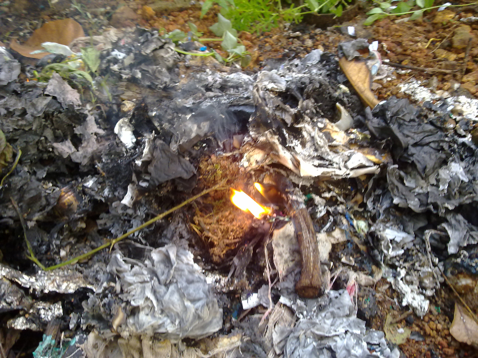 Waste Buring, Burn, Burning, Fire, Texture, HQ Photo