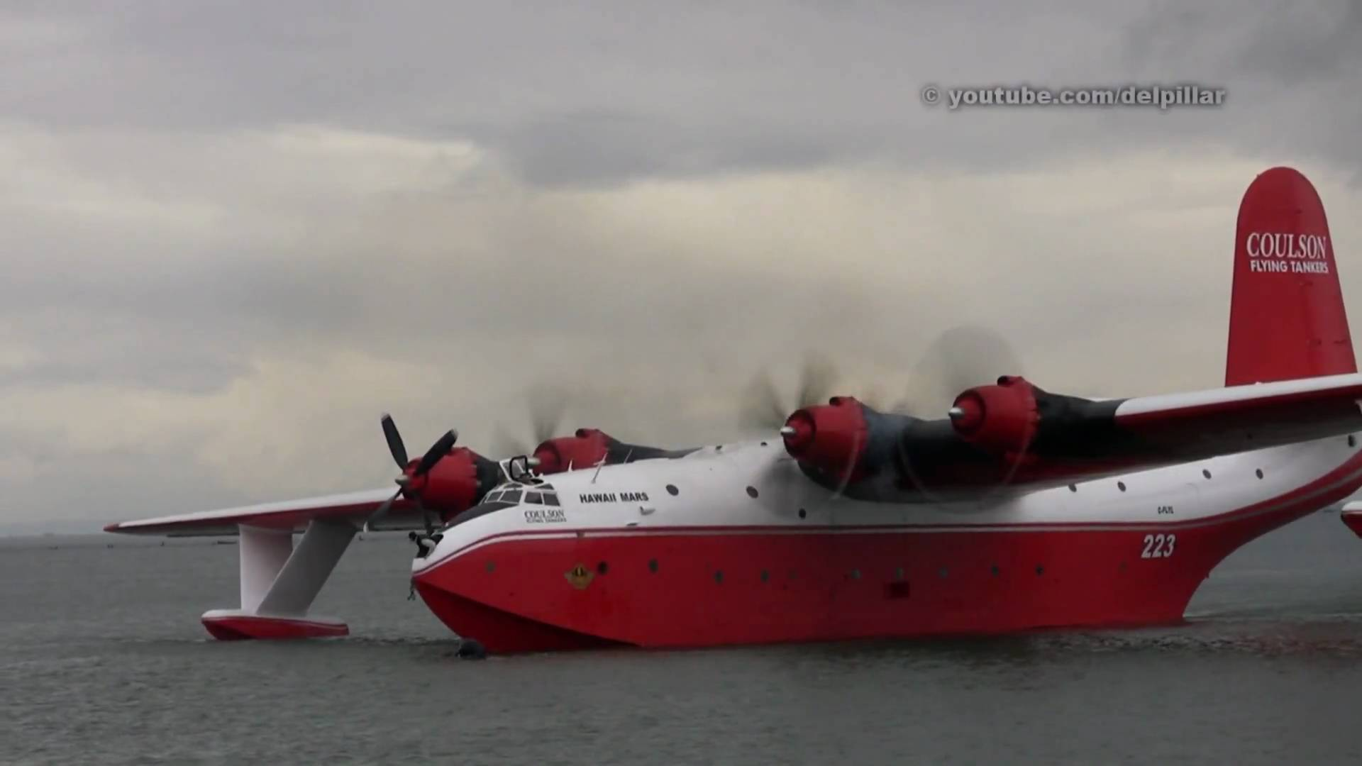 Martin Mars Water Bomber Demo - Richmond, B.C. - YouTube