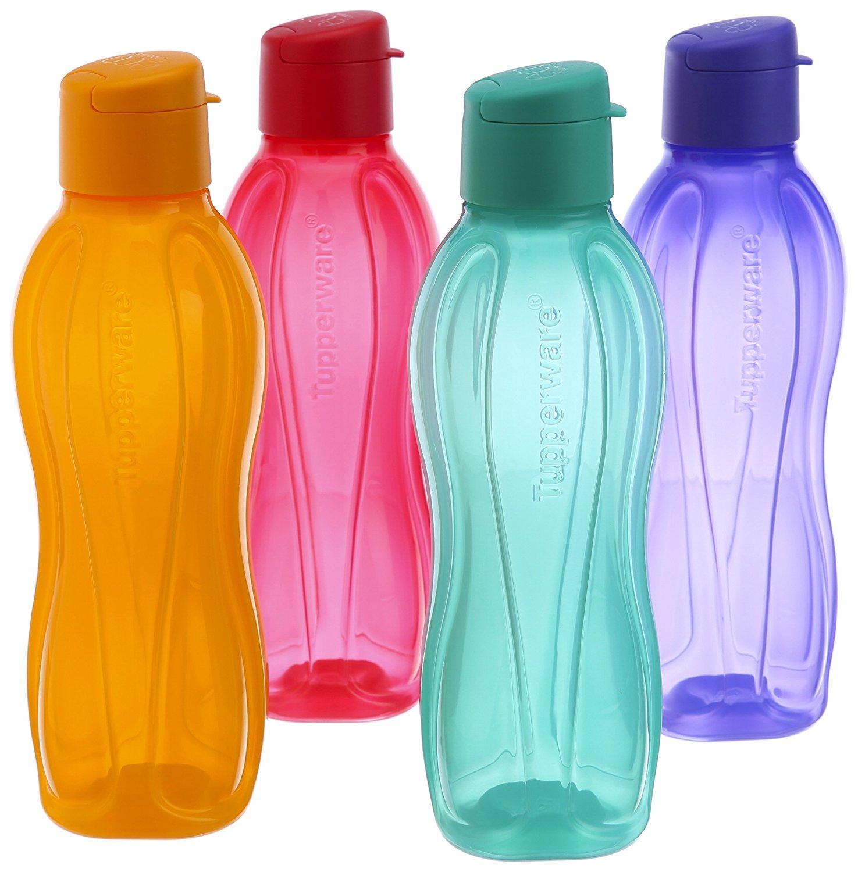 Amazon.com : Tupperware Fliptop Water Bottle Set, 750Ml, Set Of 4 ...