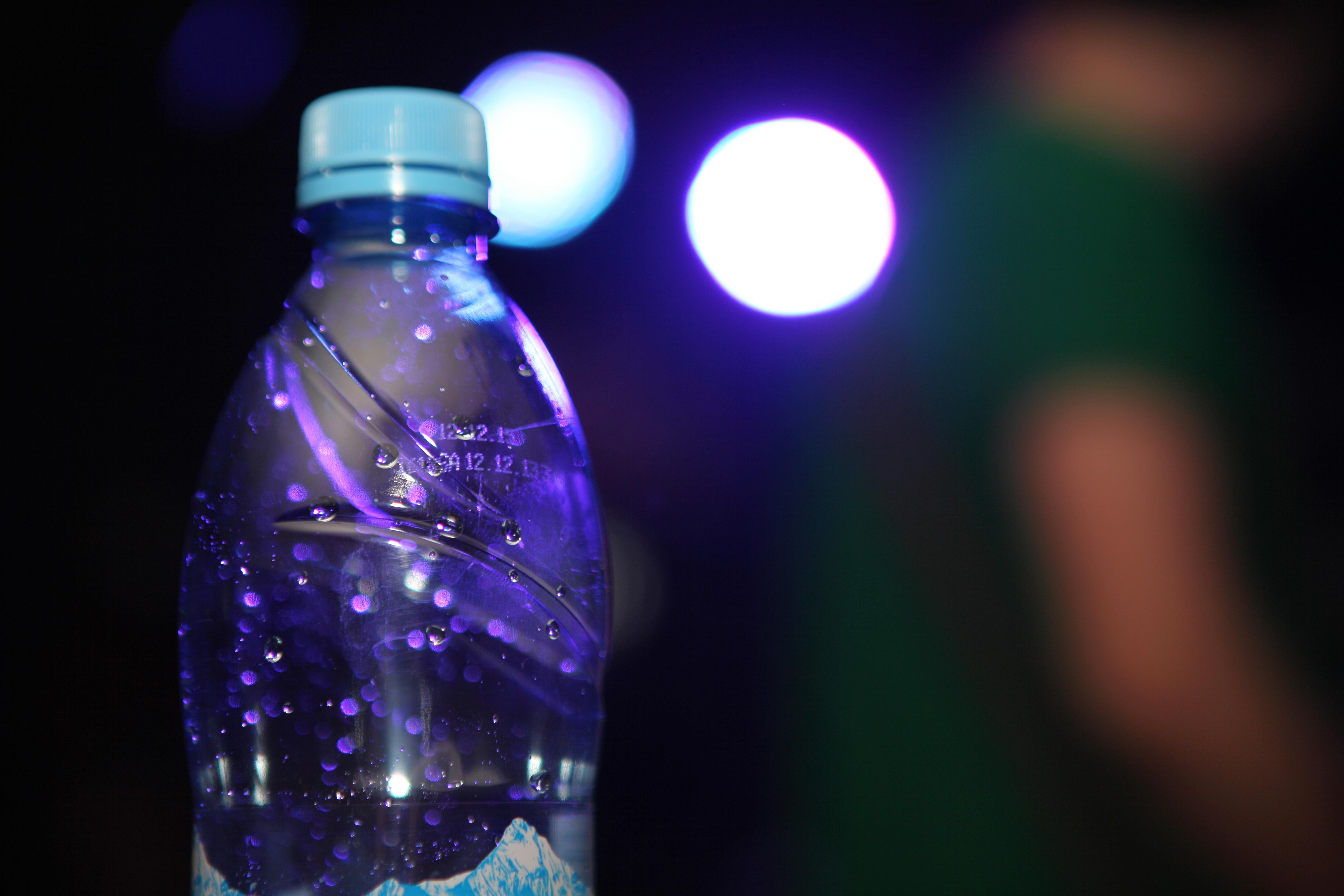 Water bottle, Fresh, Full, Water, Droplet, HQ Photo