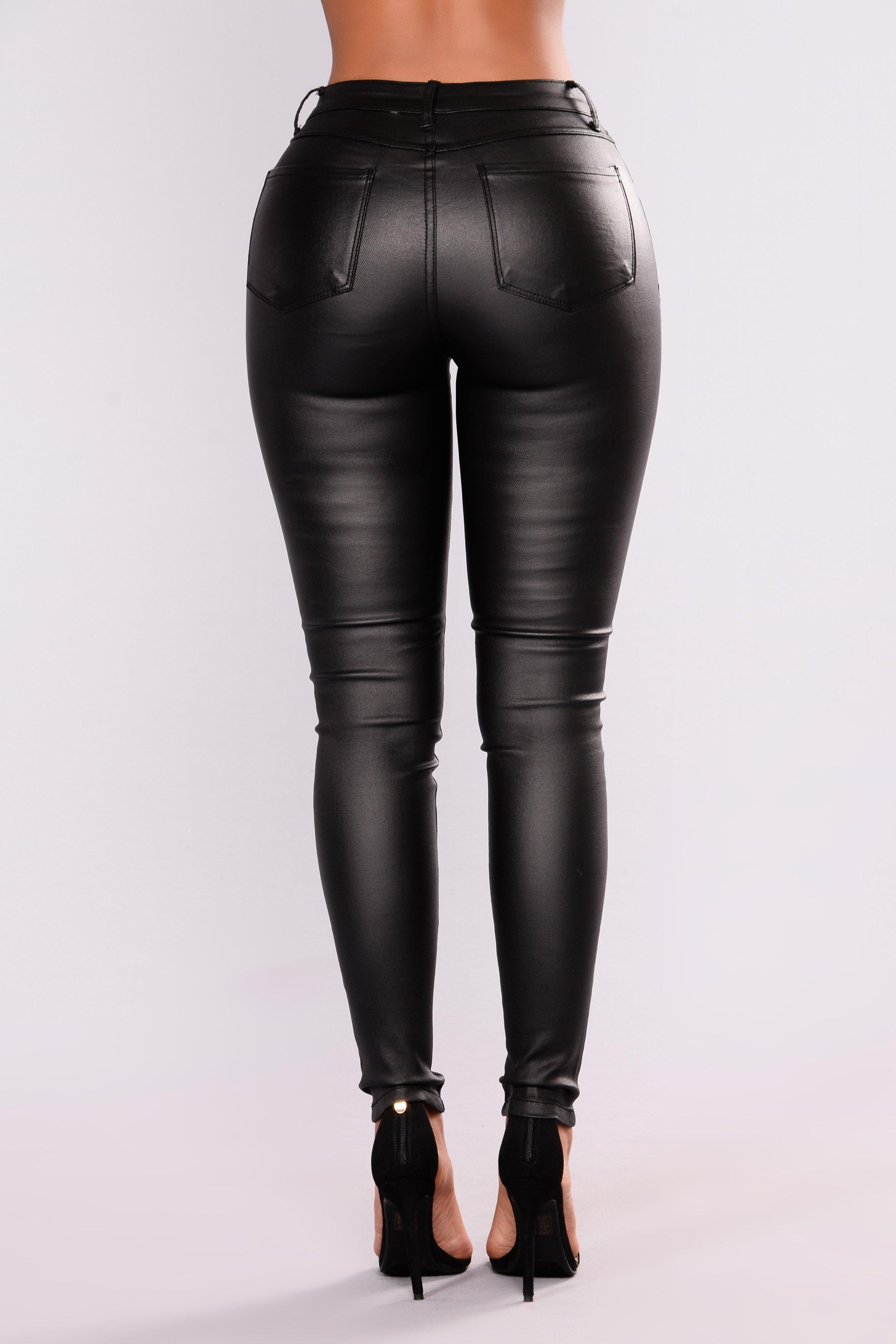 Smoke On Water Coated Pants - Black