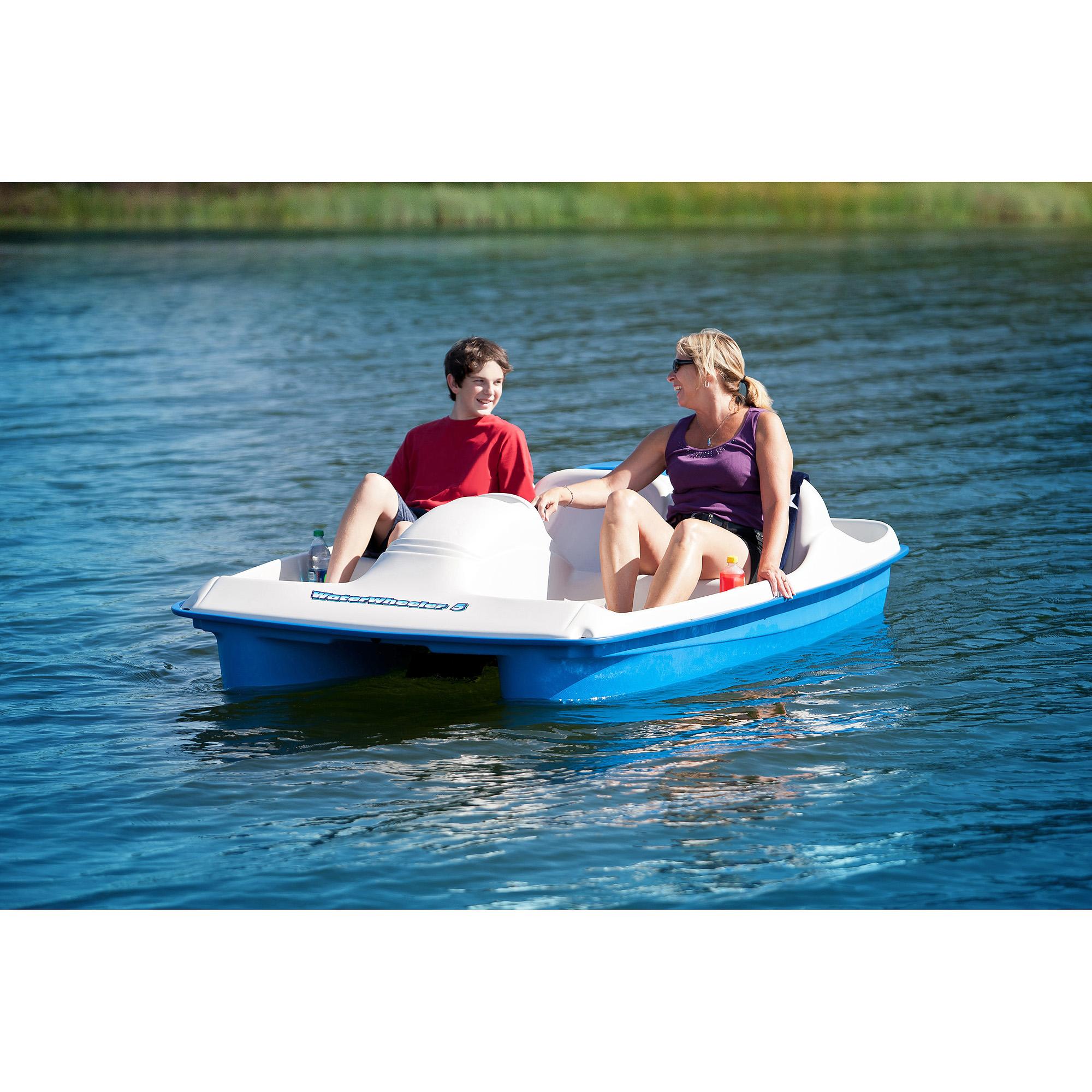 Water Wheeler Pedal Boat, Blue - Walmart.com
