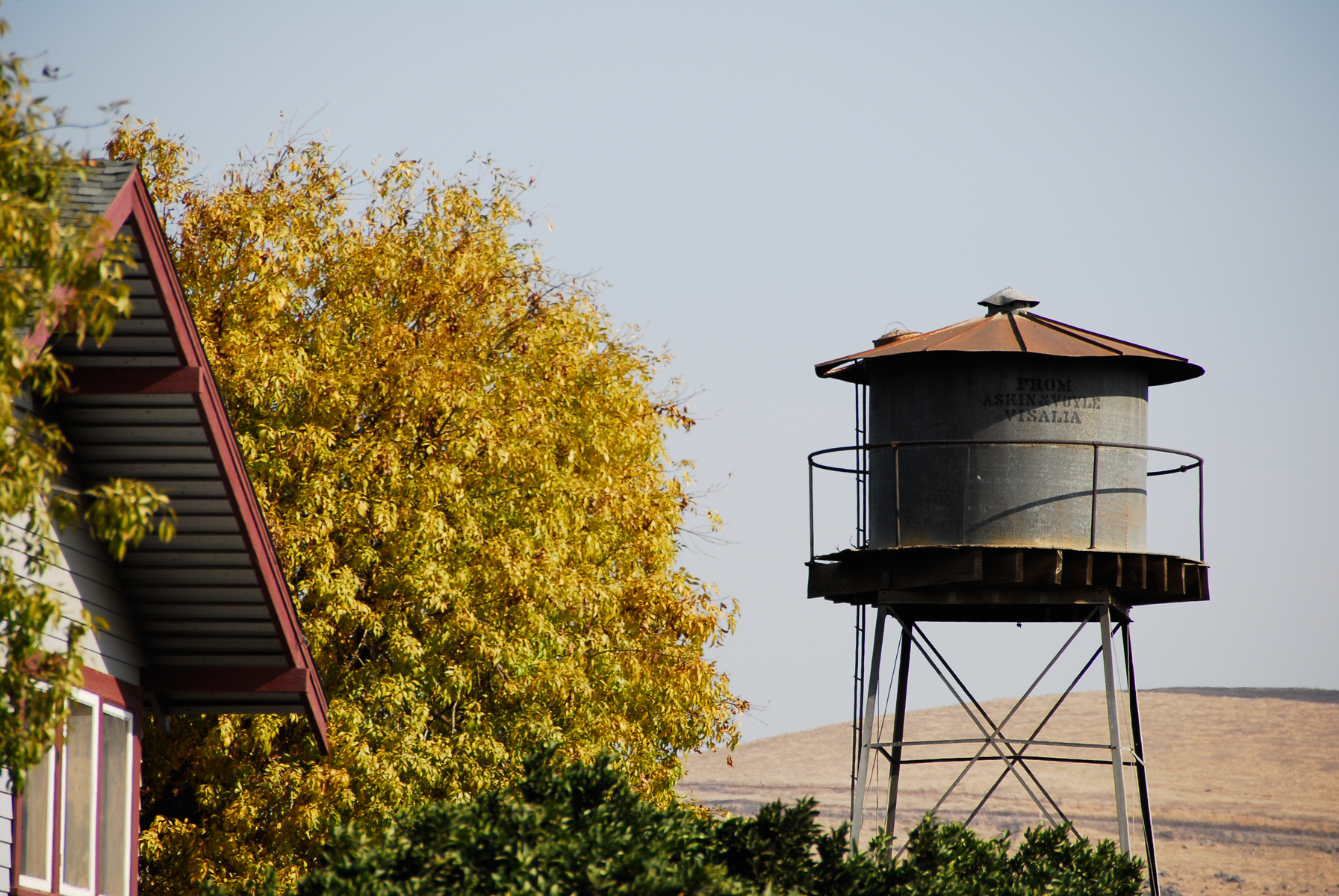 Water tank in the foothills photo
