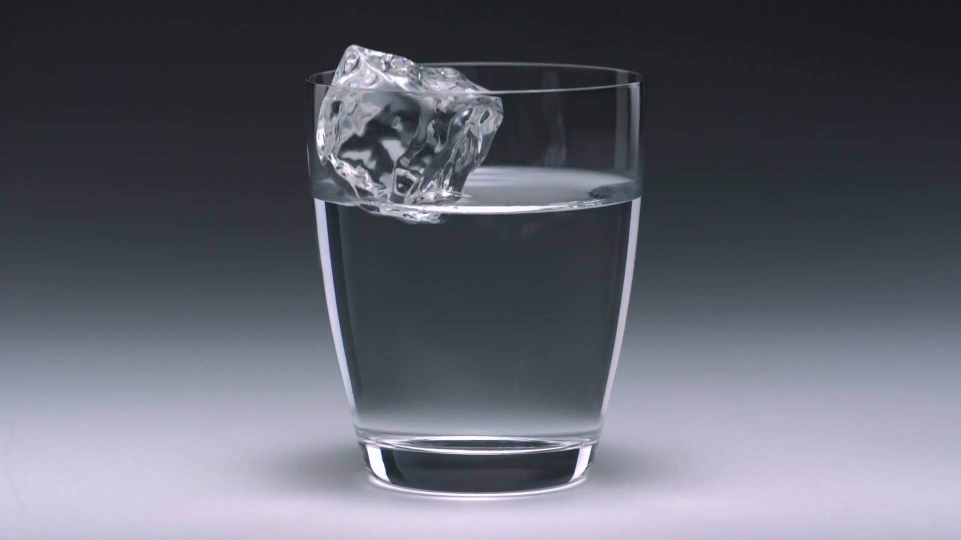 Ice cubes in a glass with water - Slow Motion Stock Video Footage ...