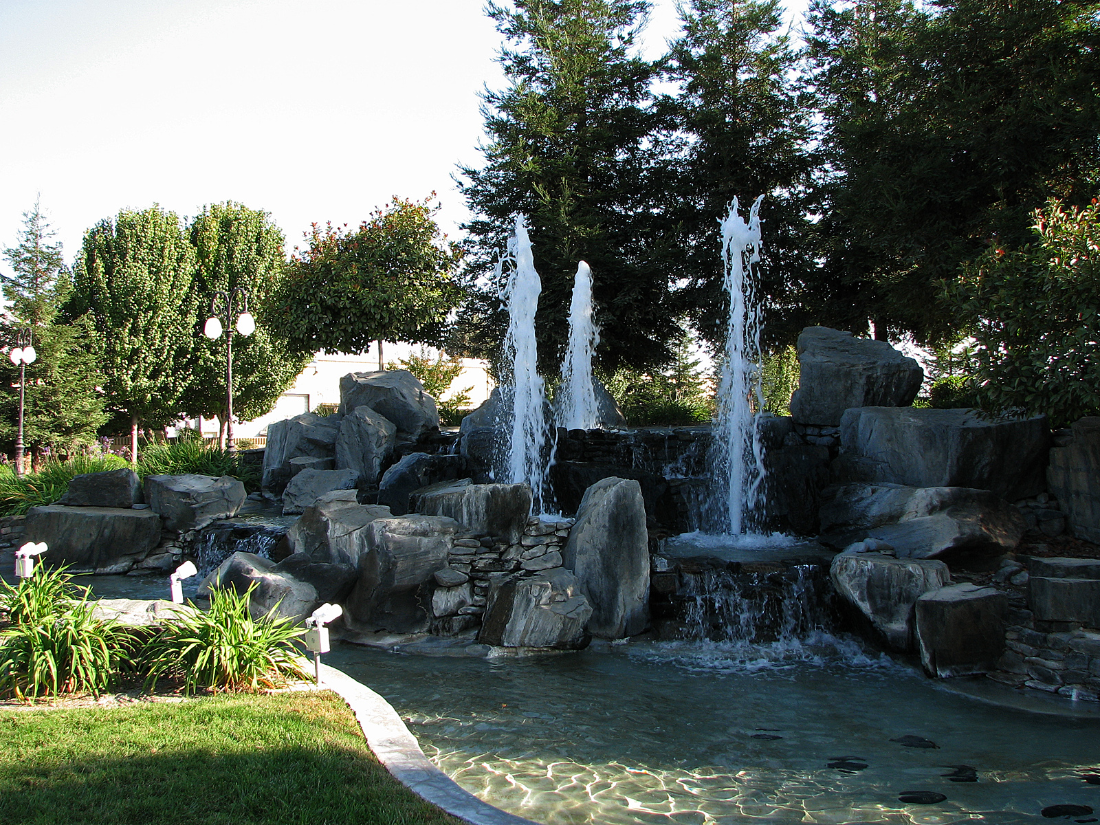 Waterfall & Fountain, Bspo06, Flowing, Fountain, Park, HQ Photo