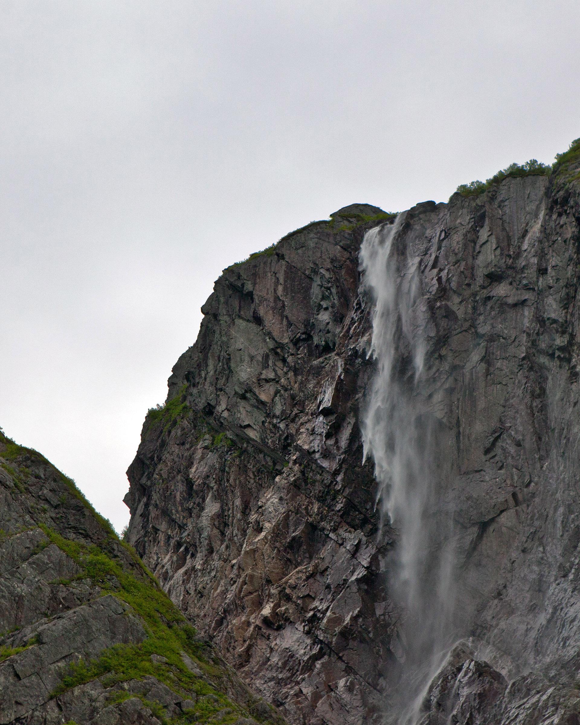 Waterfall at western brook pond photo