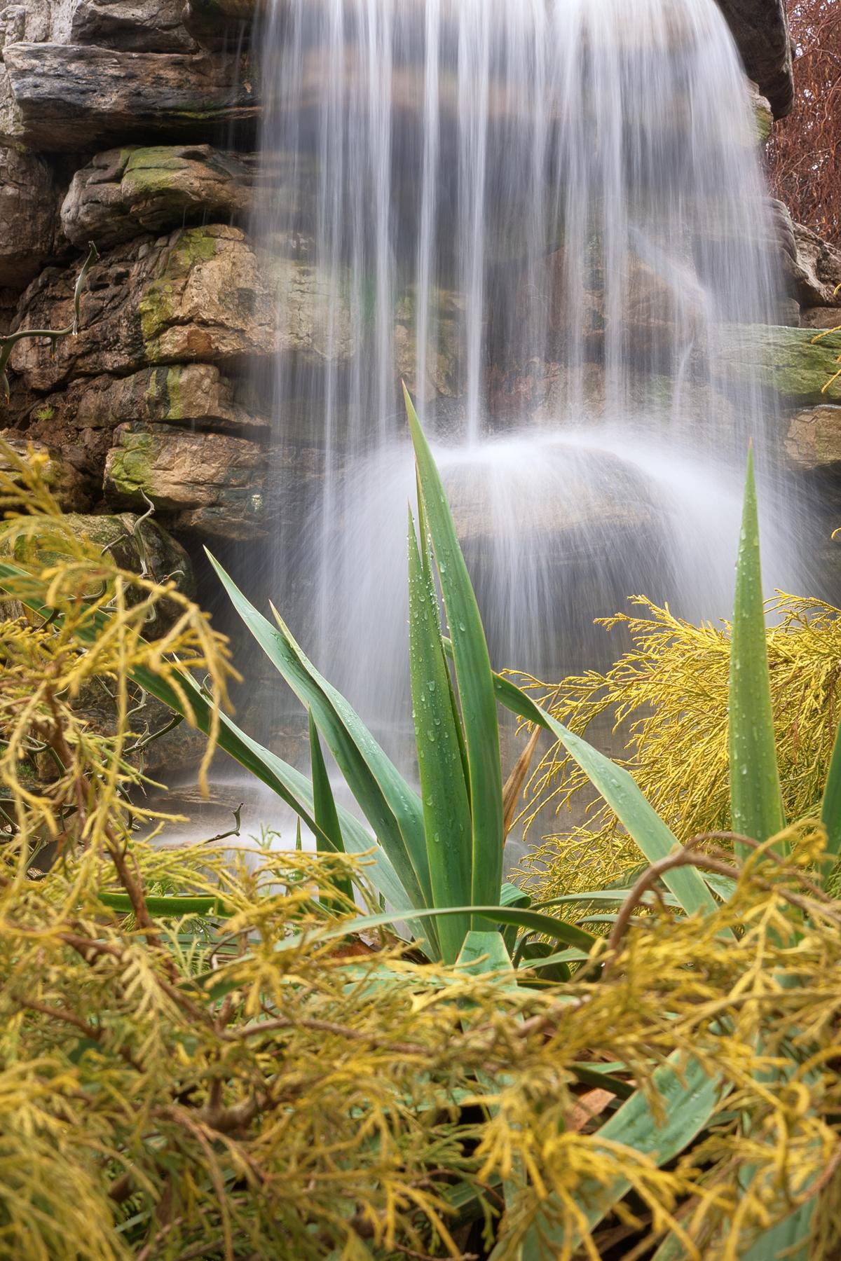 Waterfall Foliage - HDR, America, Scene, Rocky, Rocks, HQ Photo