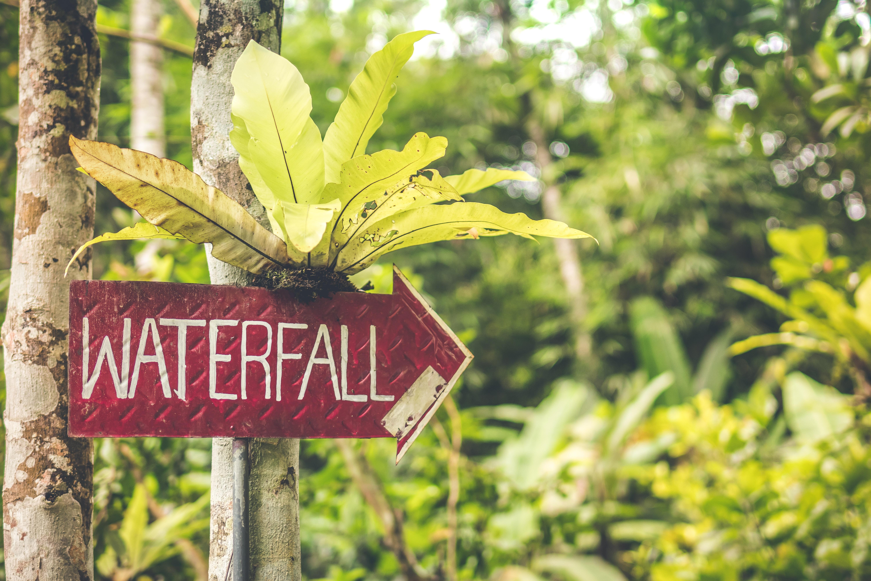 Waterfall signage photo