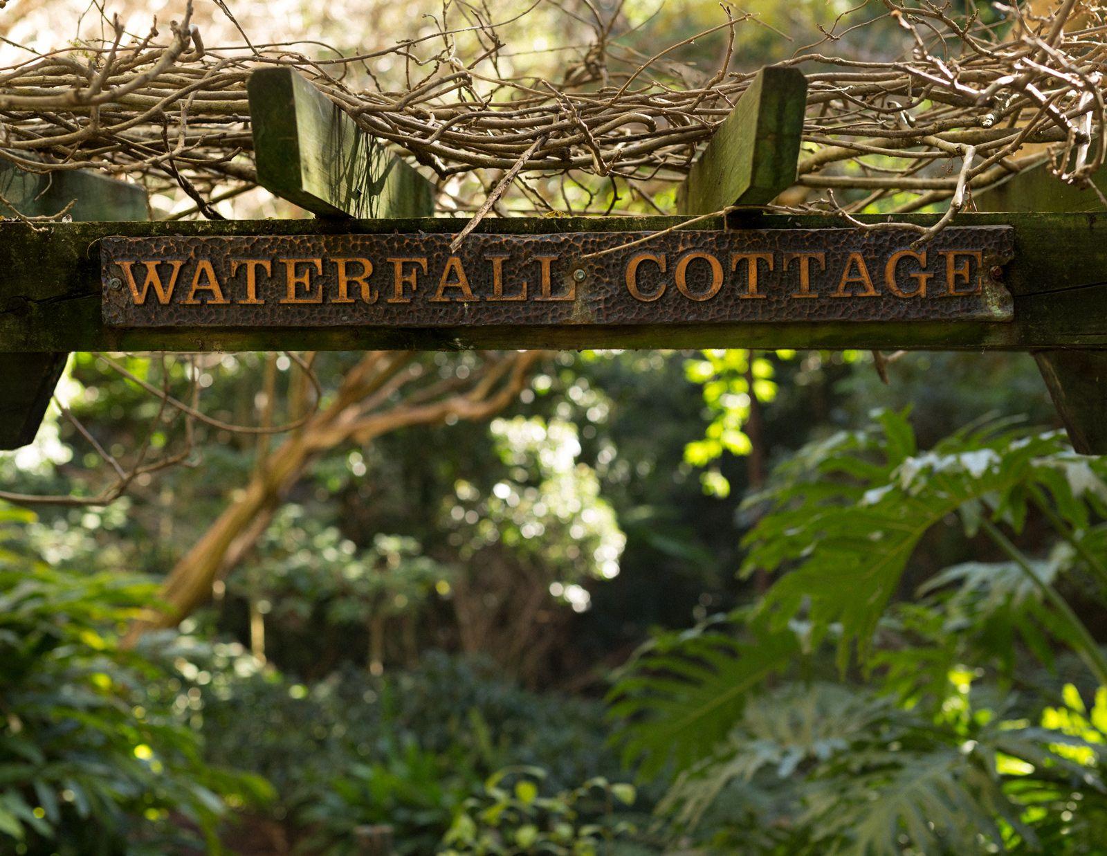 Waterfall Cottage: An Enchanted Garden | Garden waterfall and Gardens