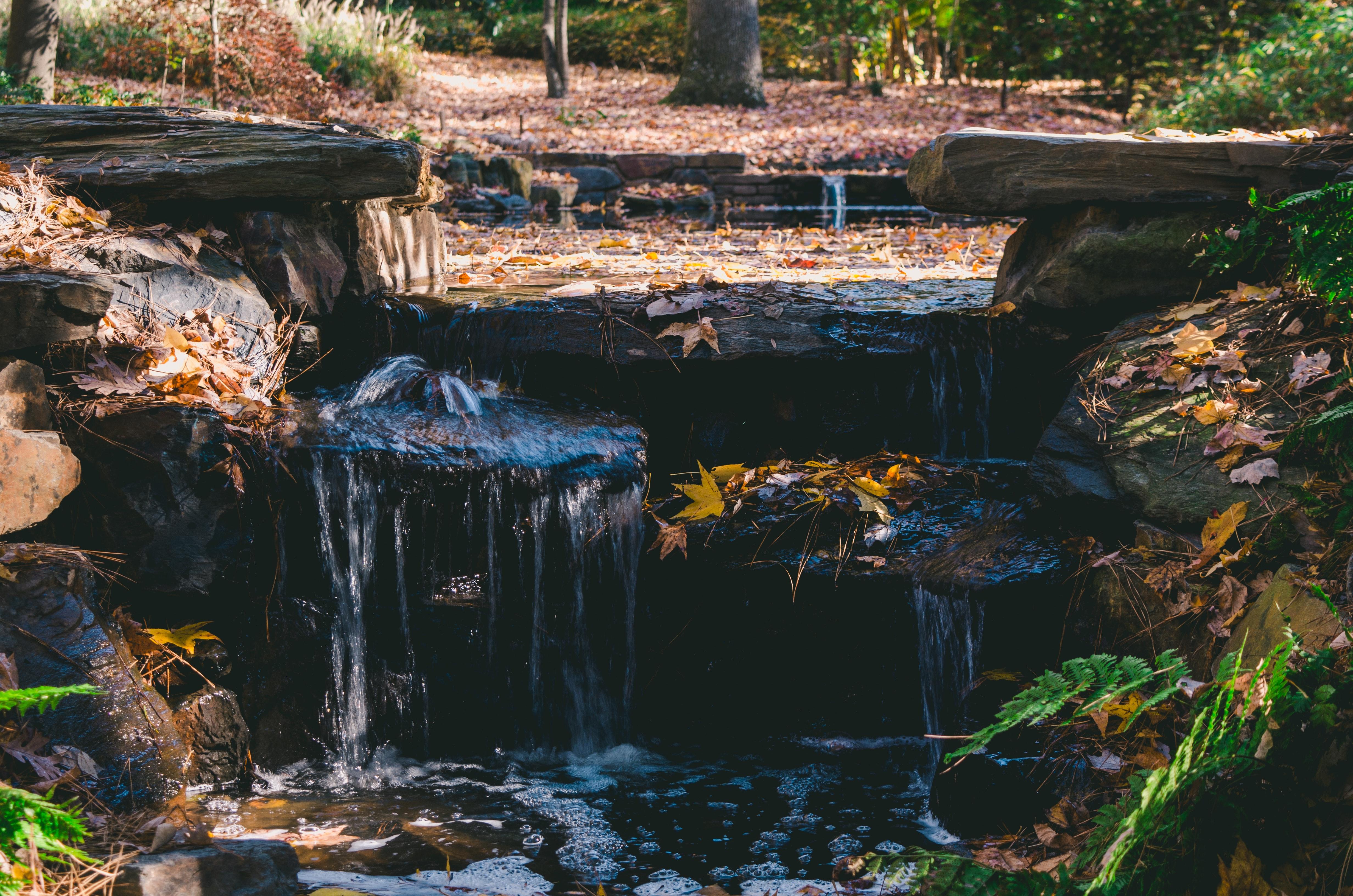Waterfalls, Stream, Scenic, Rocks, Park, HQ Photo