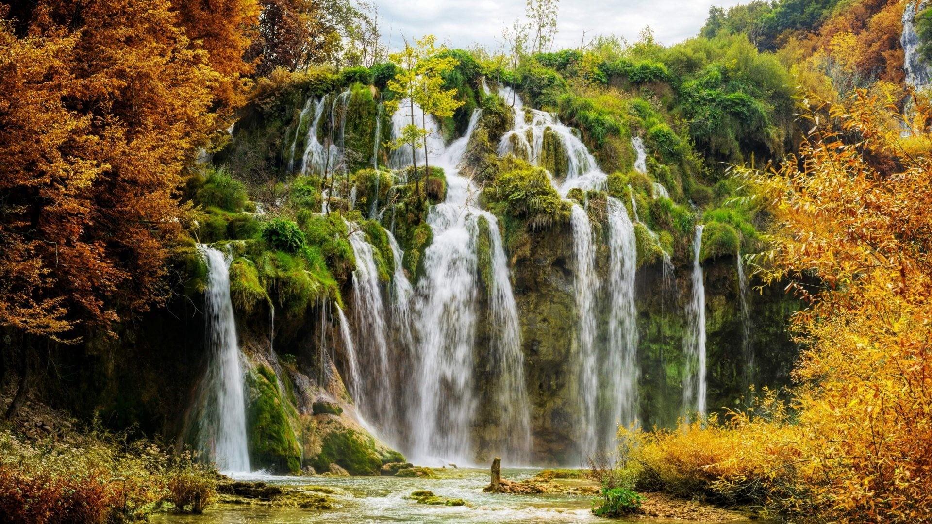 Waterfalls during daytime HD wallpaper | Wallpaper Flare