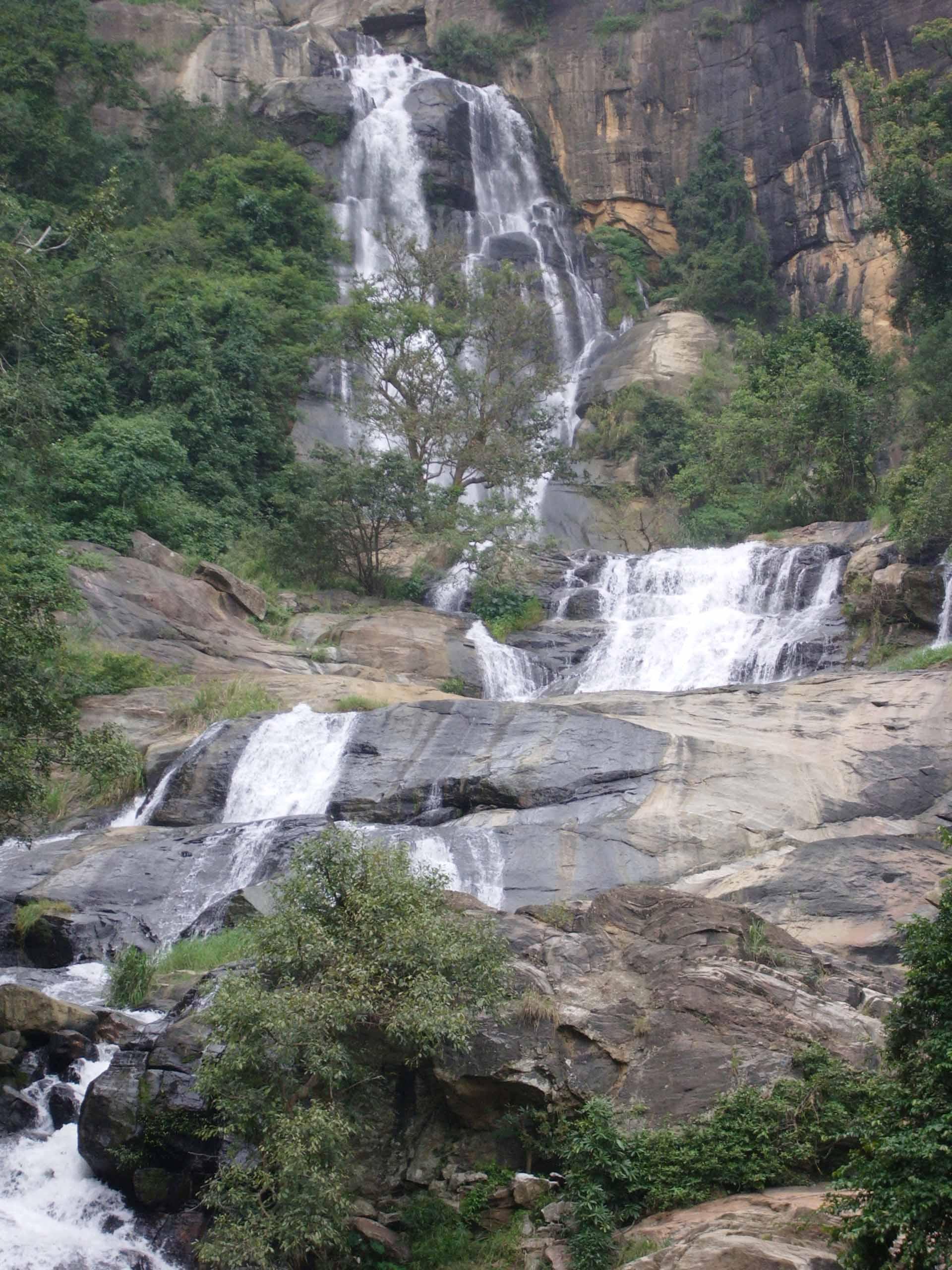 Waterfalls in Sri Lanka, Cliff, Speed, Water, Trees, HQ Photo