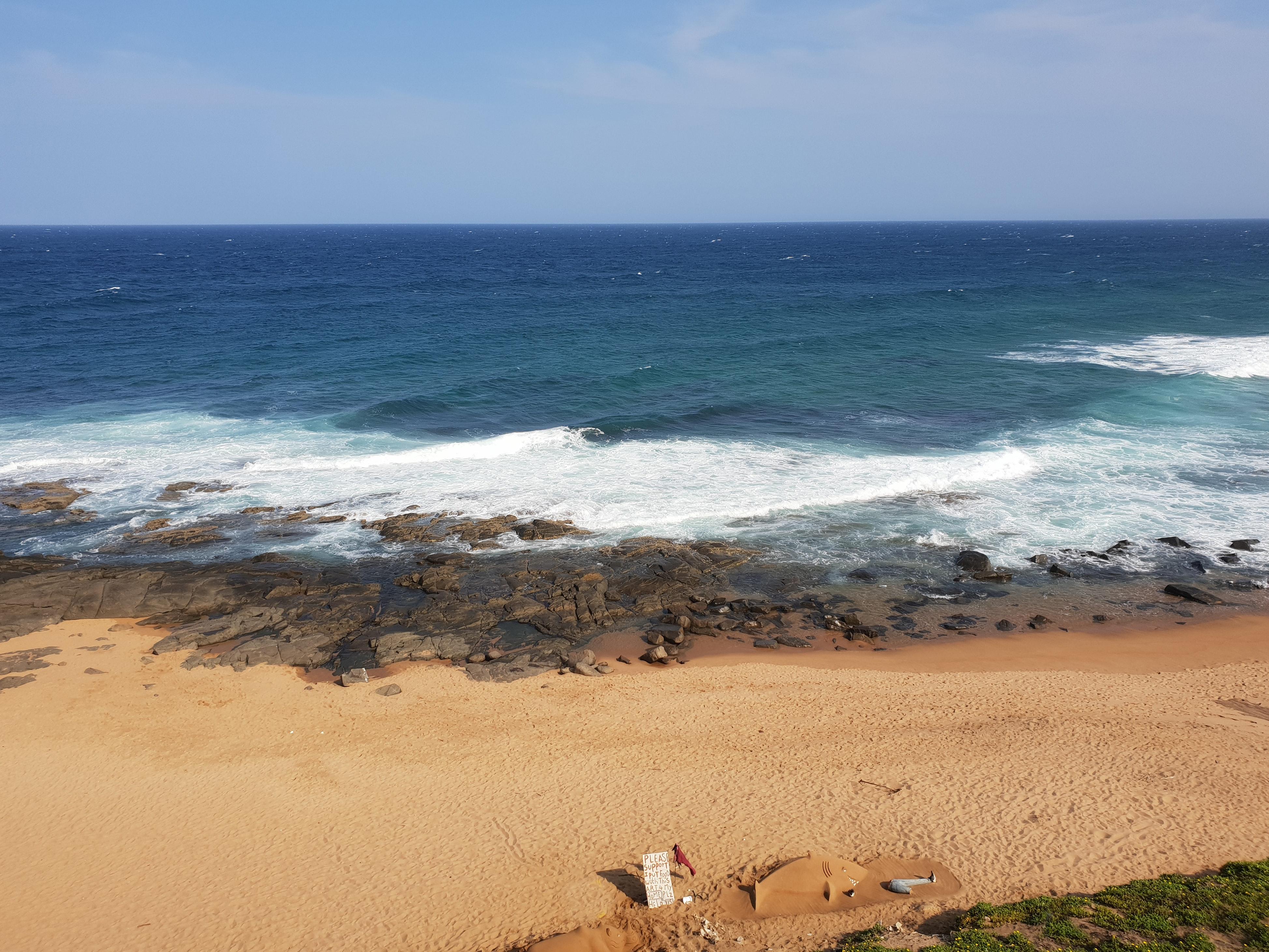 Waves crashing on the sandy beach, Waves crashing on the sandy beach