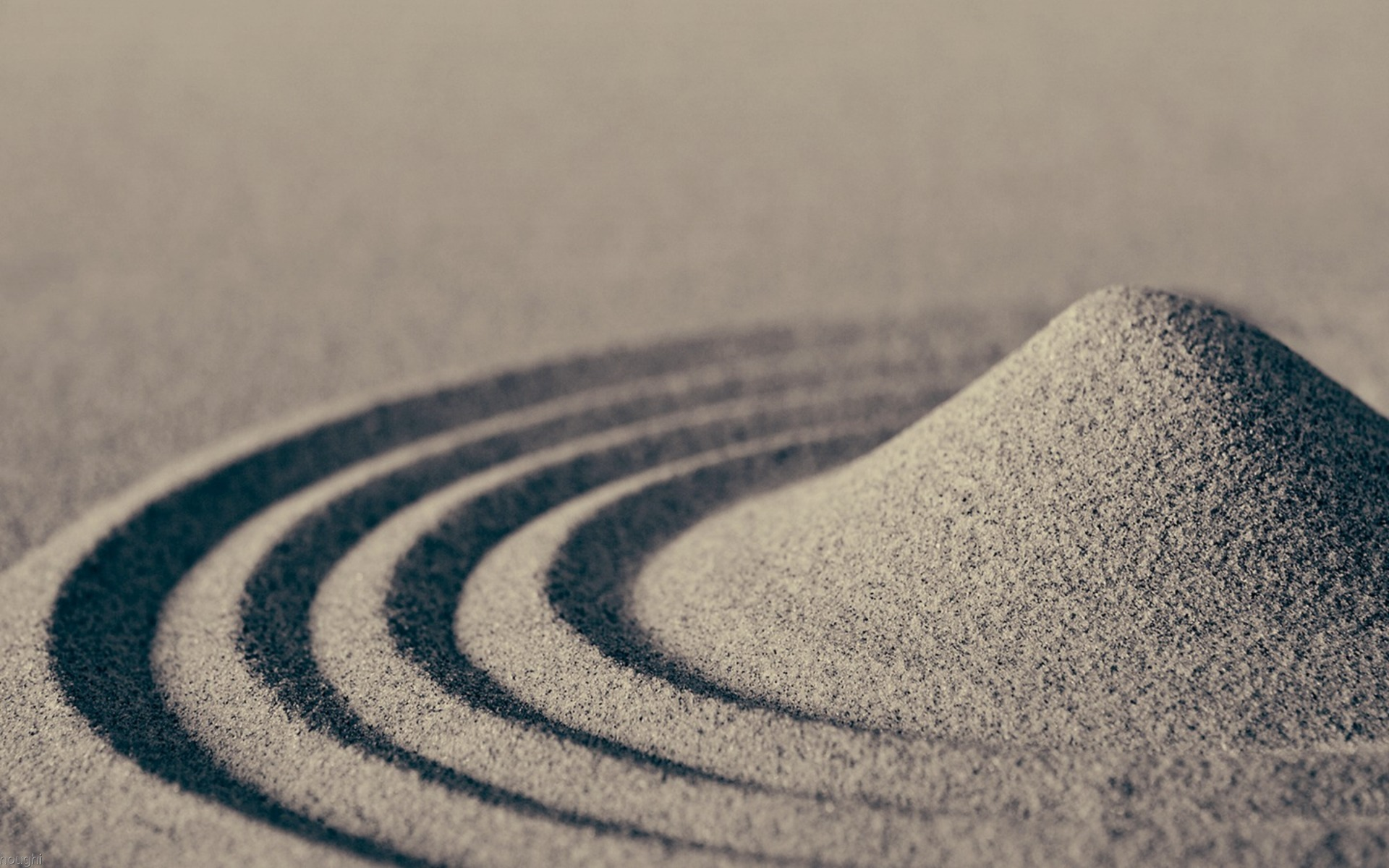 Waves in sand photo