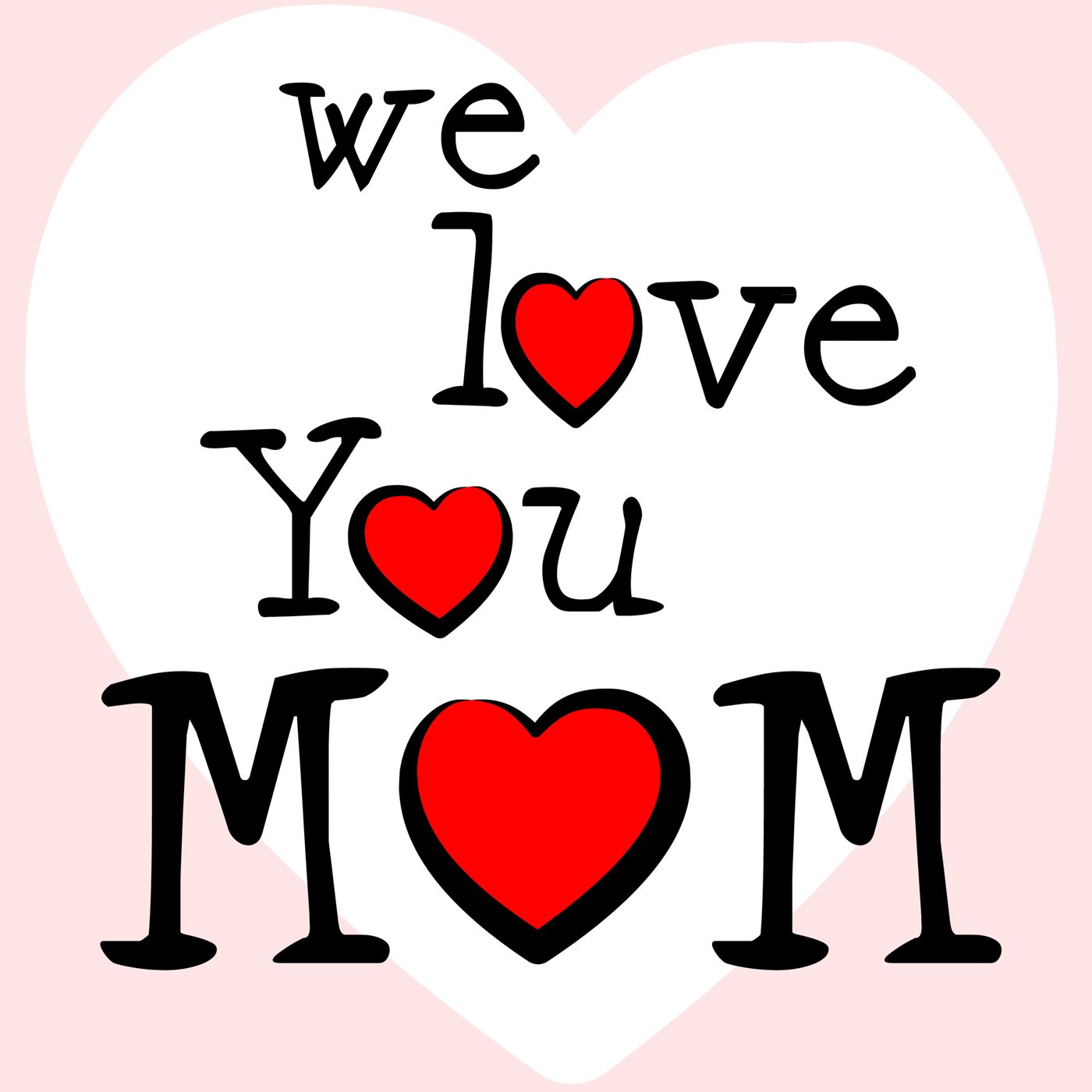 We love mom means mamma mummy and mothers photo