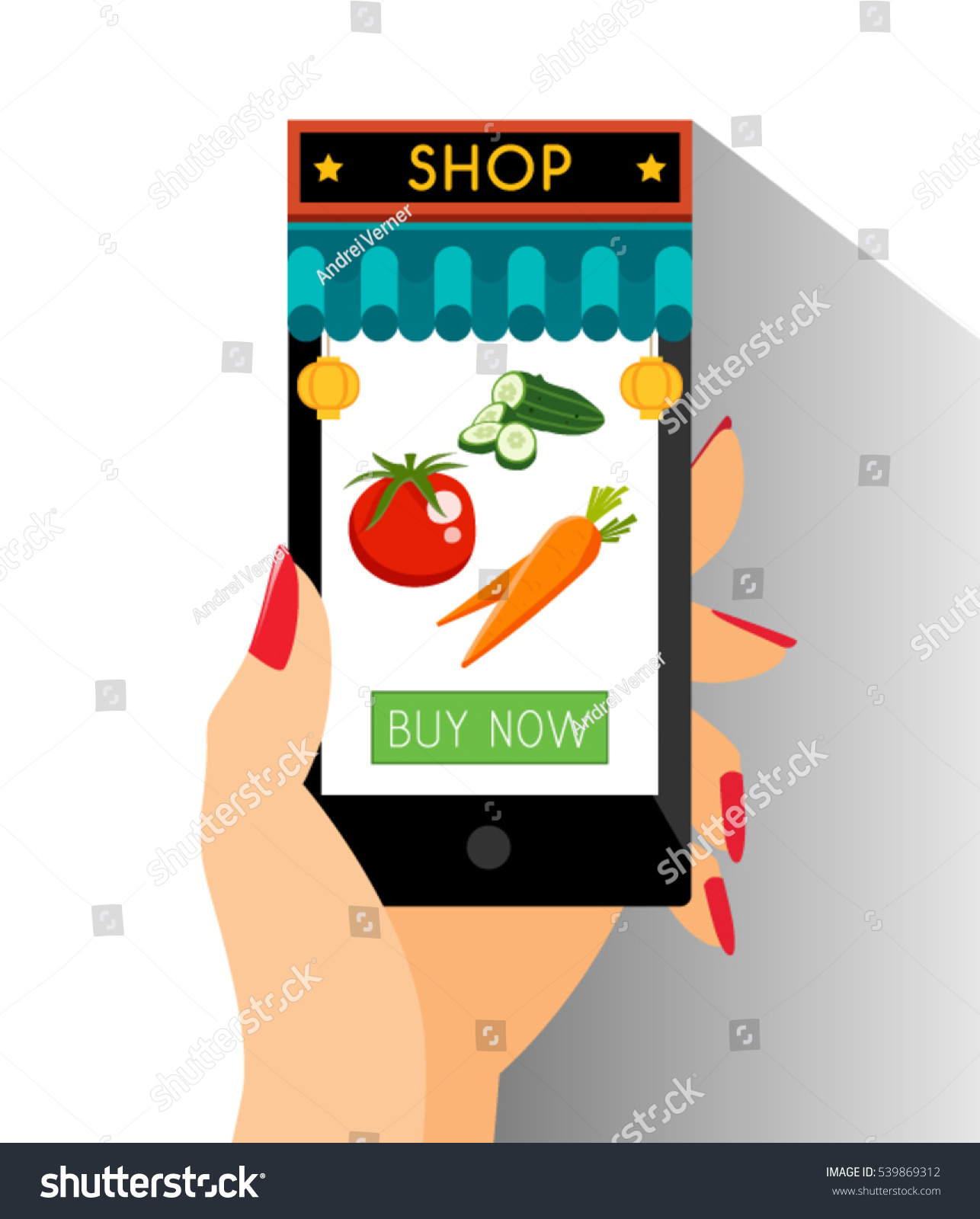 Ecommerce Chinese Shop Online Shopping Web Stock Vector 539869312 ...