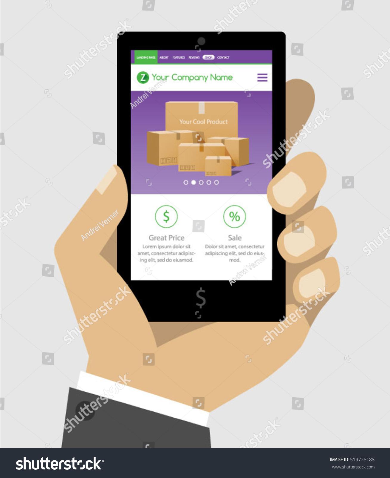 Ecommerce Online Shop Web Site Product Stock Vector 519725188 ...