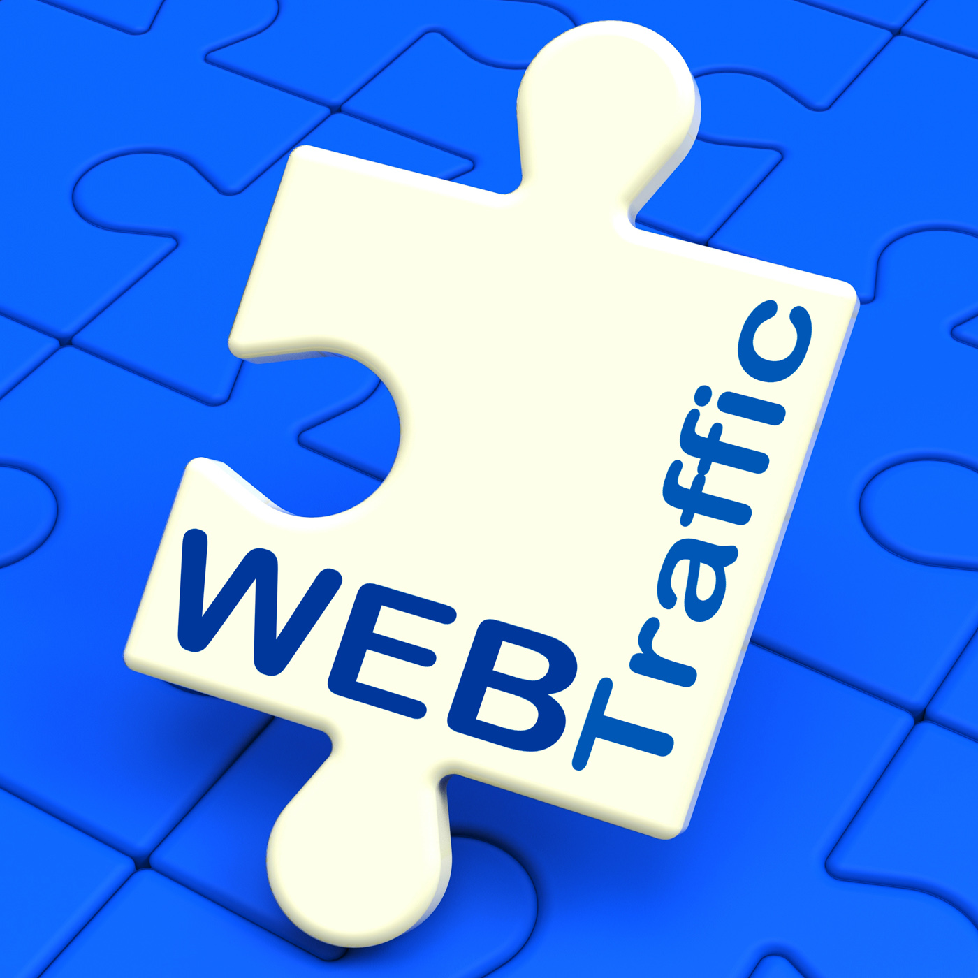 Web traffic shows visitors to website photo