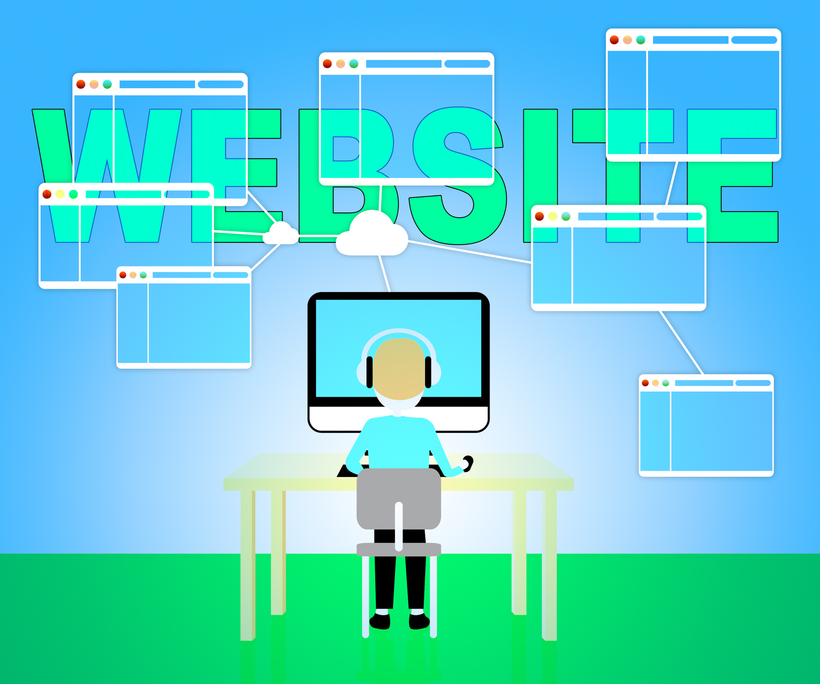 Website online means browsing internet 3d illustration photo