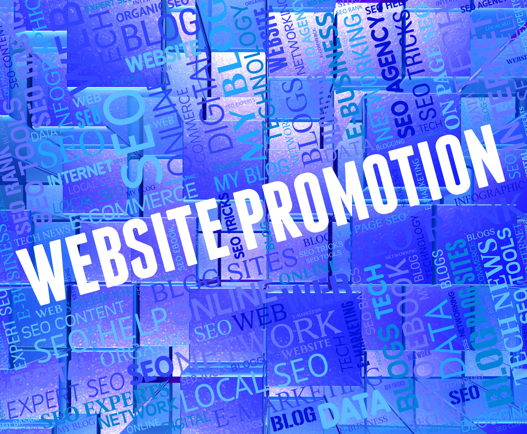 Website promotion shows reduction discounts and internet photo