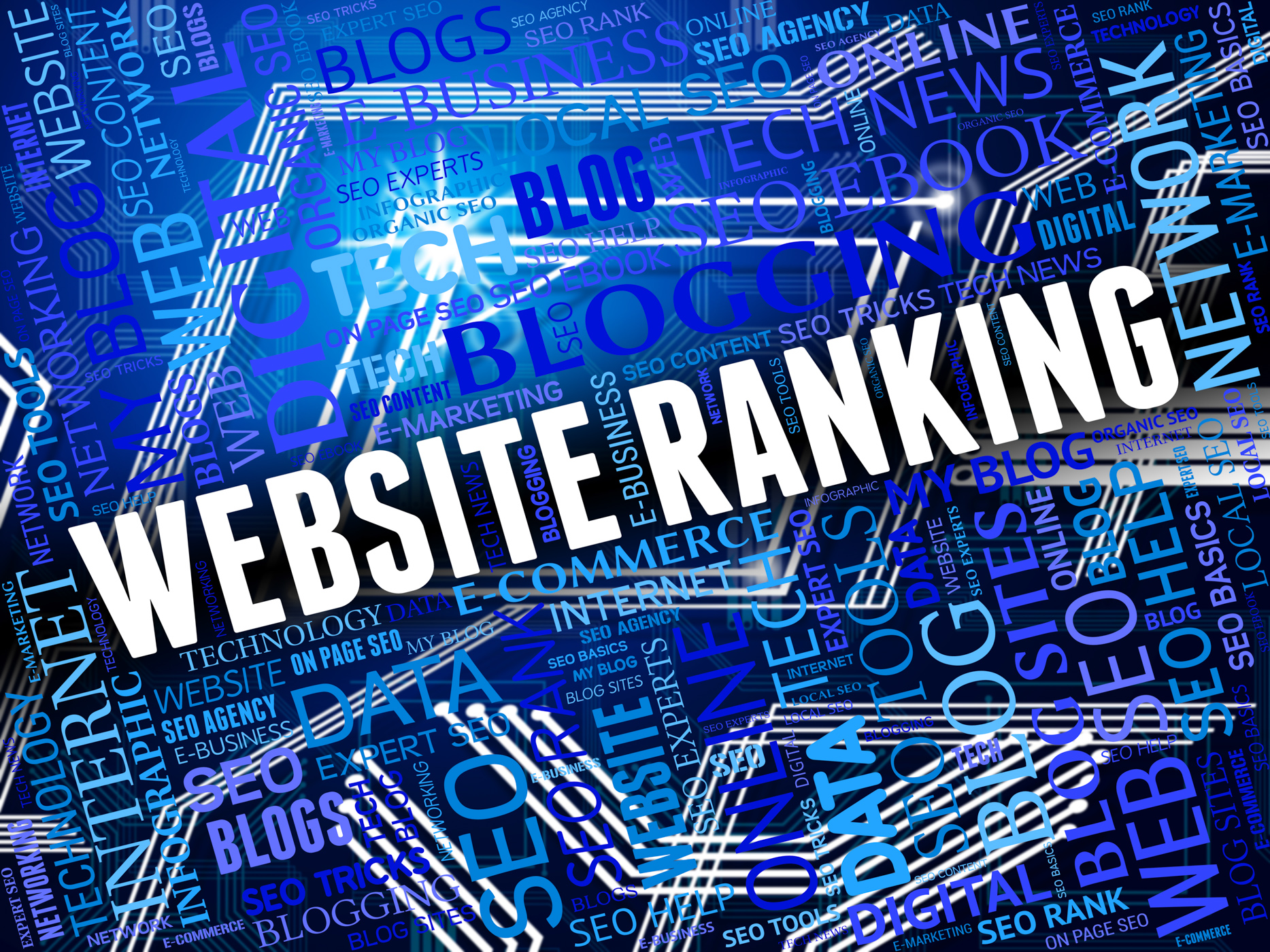 Website ranking shows marketing optimization and online photo