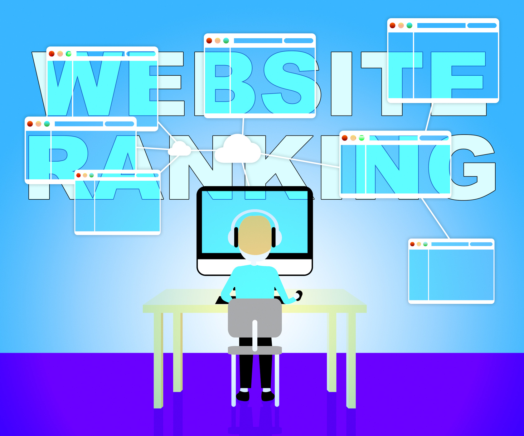 Website rankings represents search engine 3d illustration photo