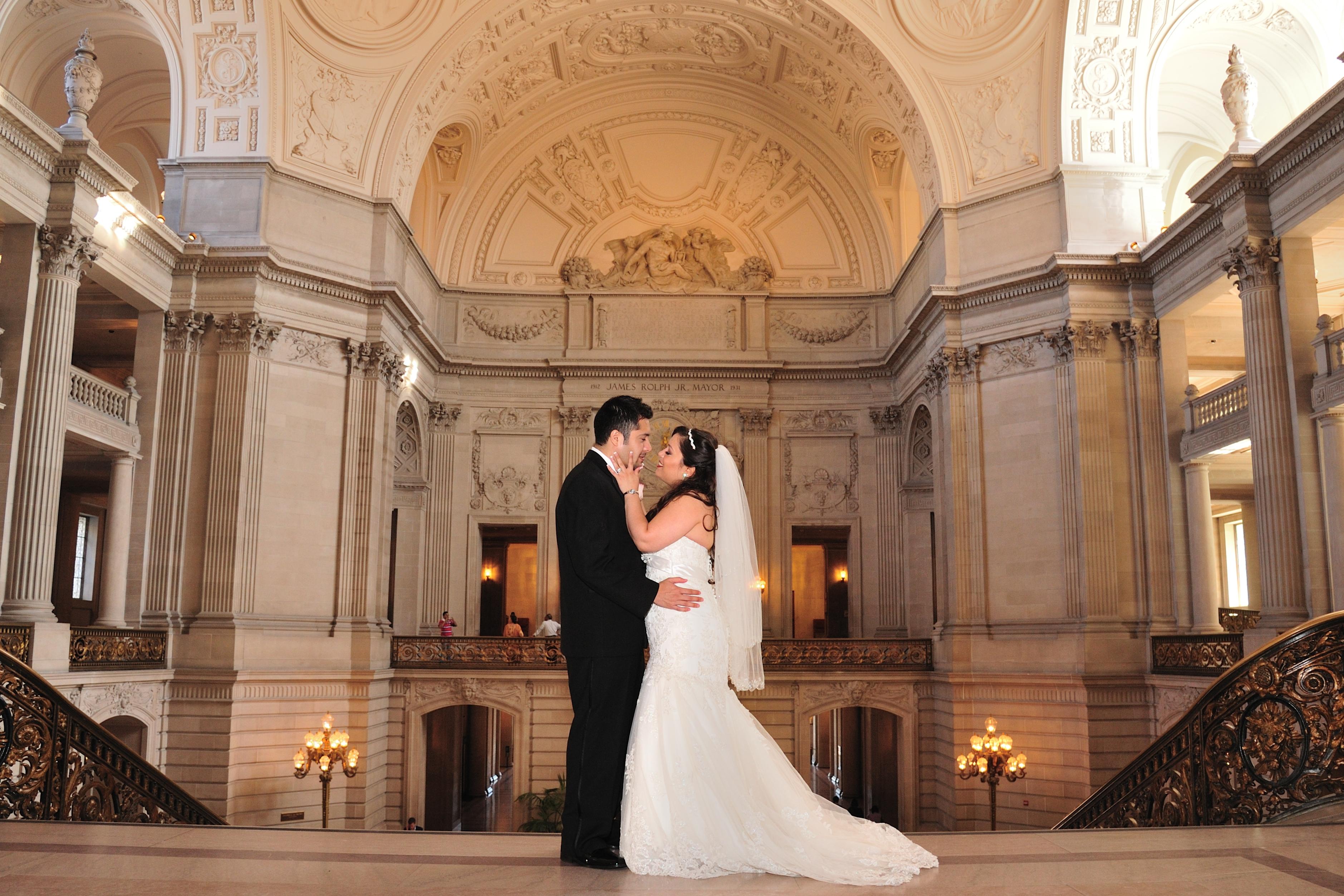 Wedding at city hall photo