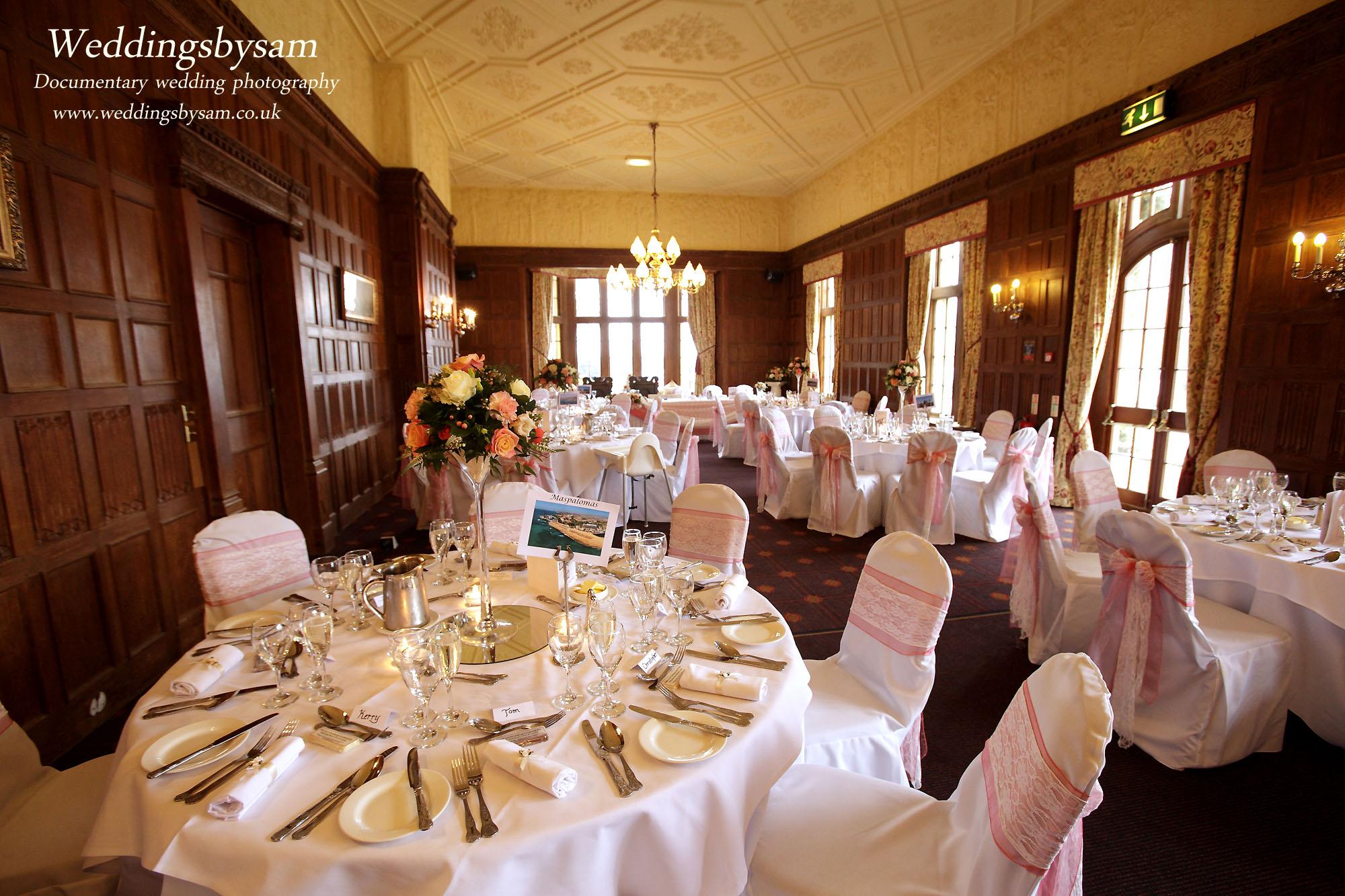 Wedding Breakfast Set Up – wedding photos of Dumbleton Hall Hotel ...