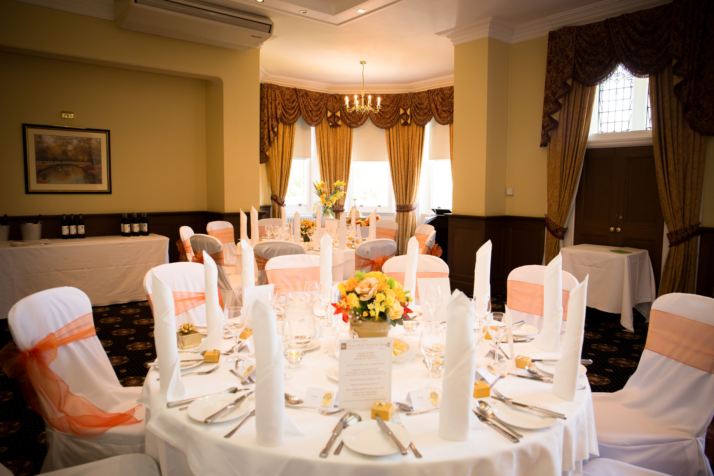 Wedding Breakfast - Bracebridge Room at Moor Hall Hotel & Spa ...