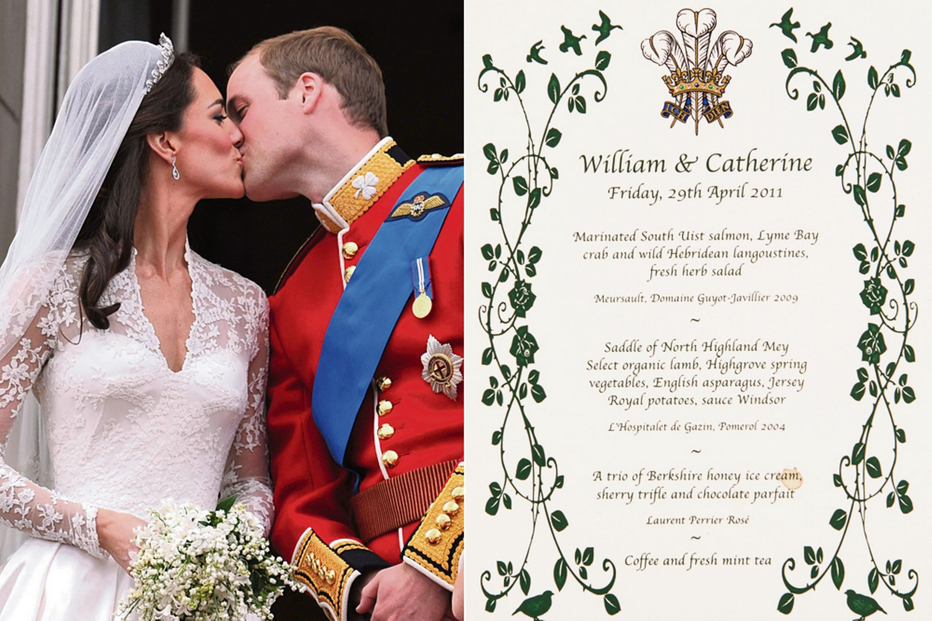 Prince William and Kate's wedding breakfast menu revealed for first ...