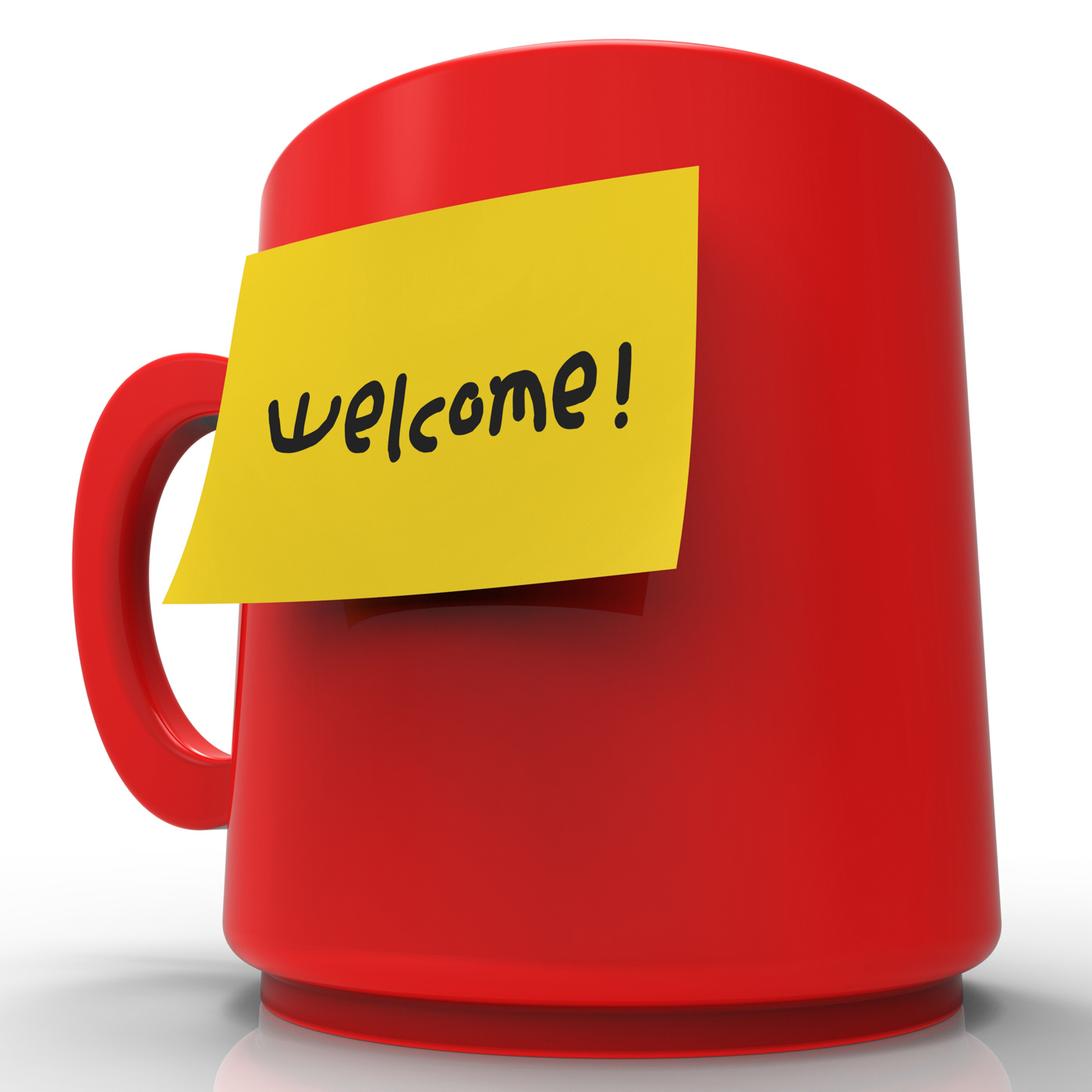 Welcome message shows arrival messages and correspondence 3d rendering photo