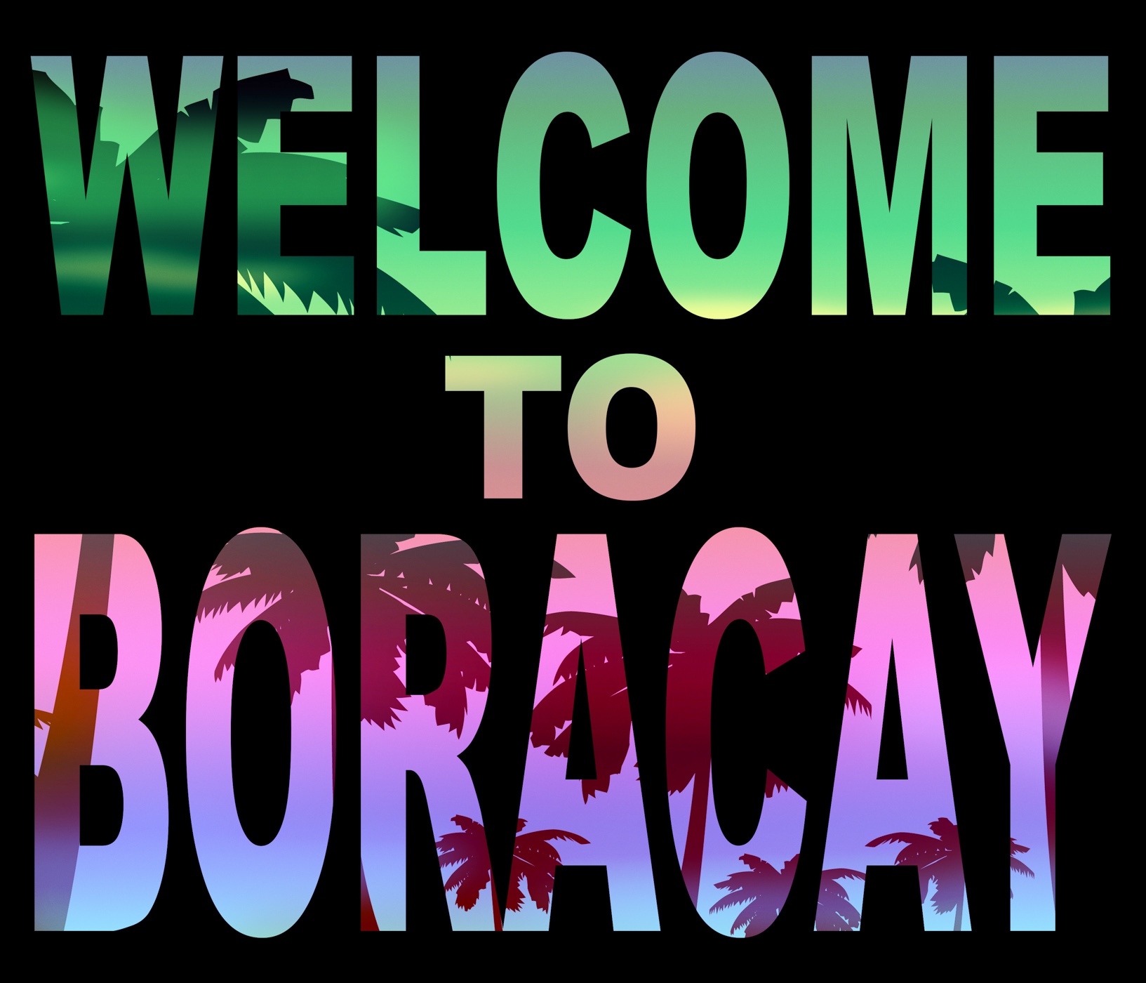 Welcome to boracay means beach vacations and hello photo