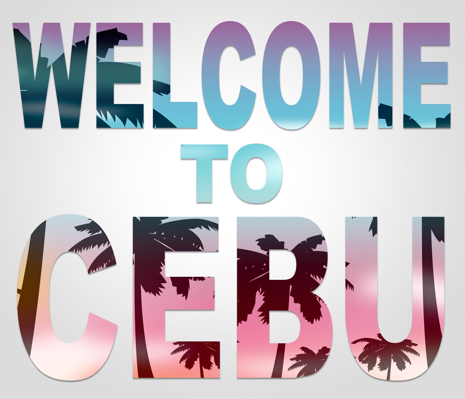 Welcome to cebu represents philippines vacations and holidays photo