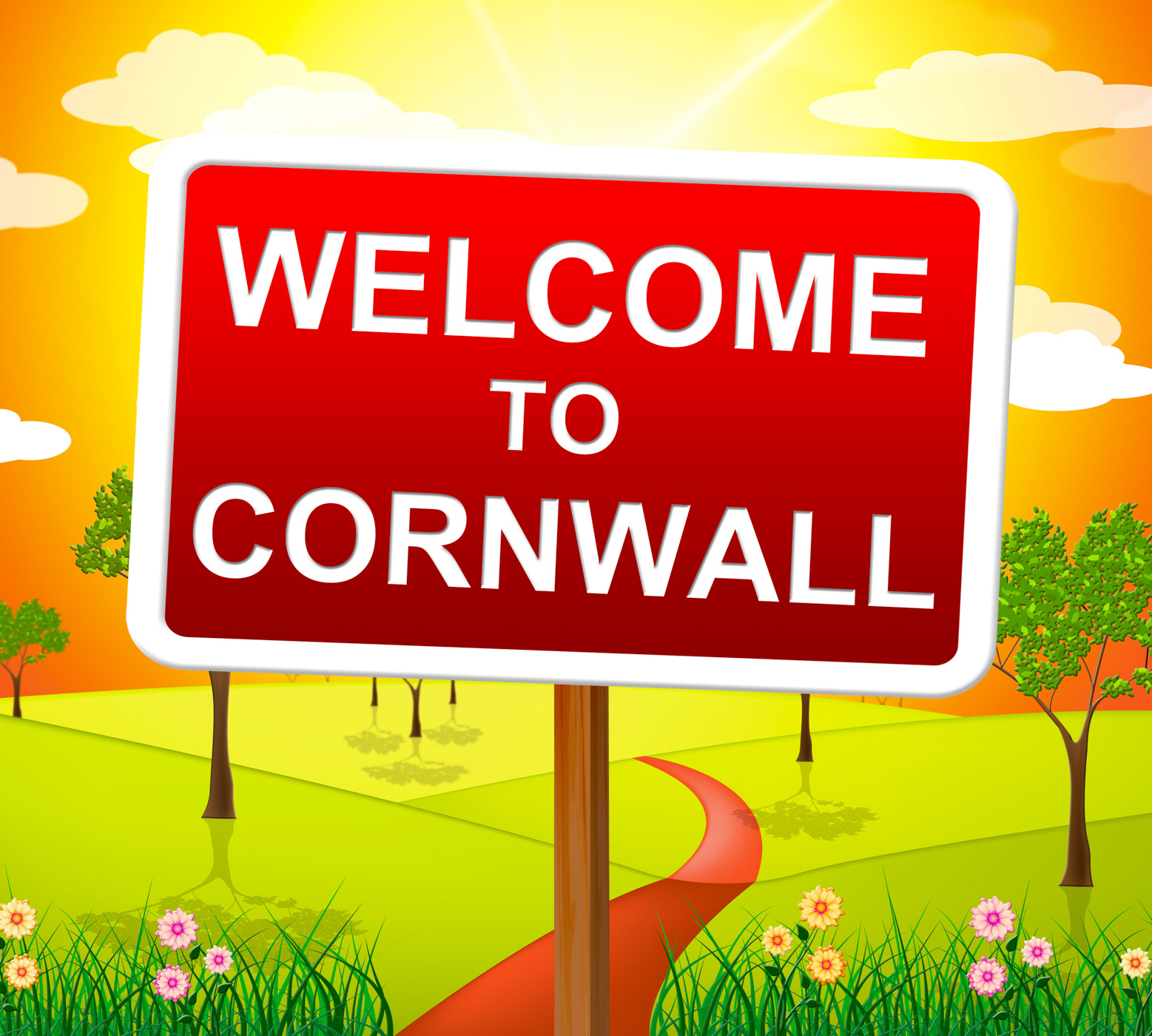 Welcome to cornwall shows united kingdom and britain photo