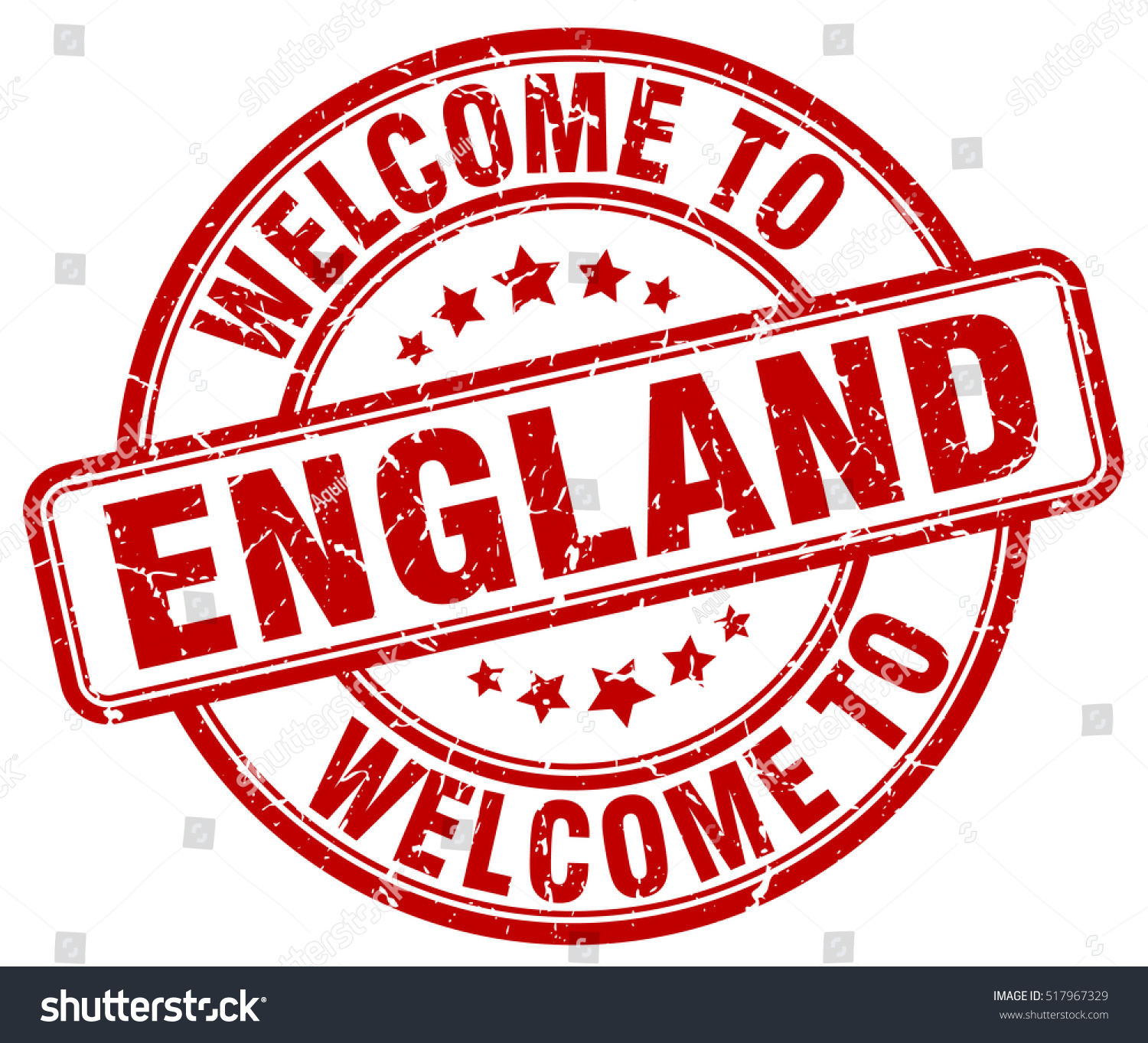 Welcome England Stamp Stock Vector 517967329 - Shutterstock