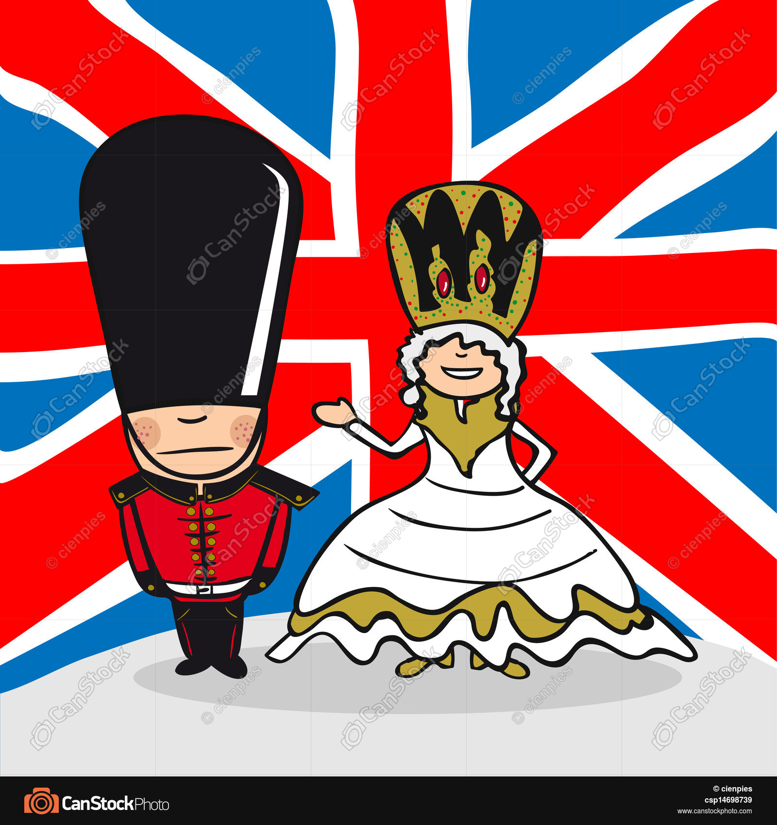 Welcome to england people. English man and woman cartoon... vectors ...