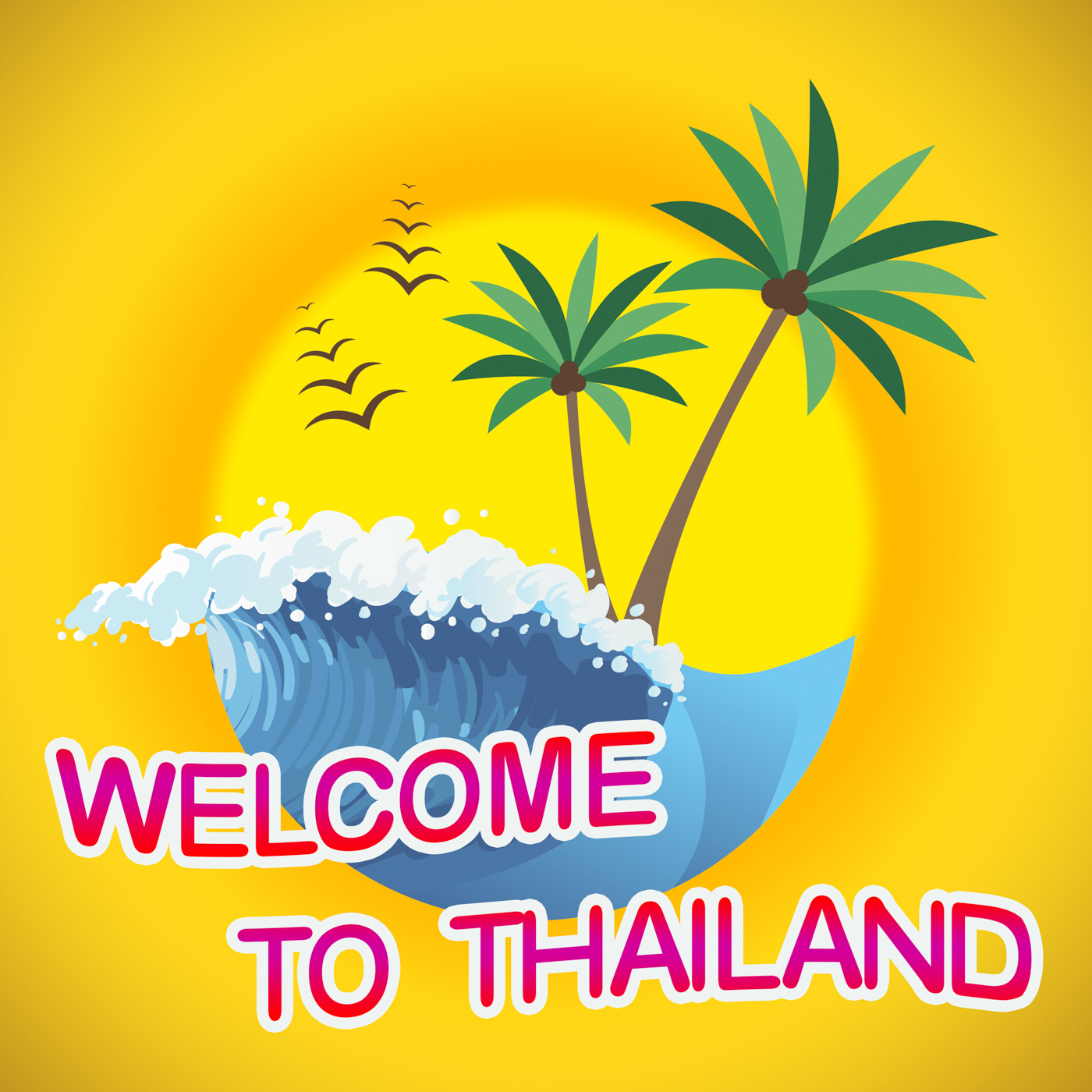 Welcome to thailand indicates summer time and coasts photo