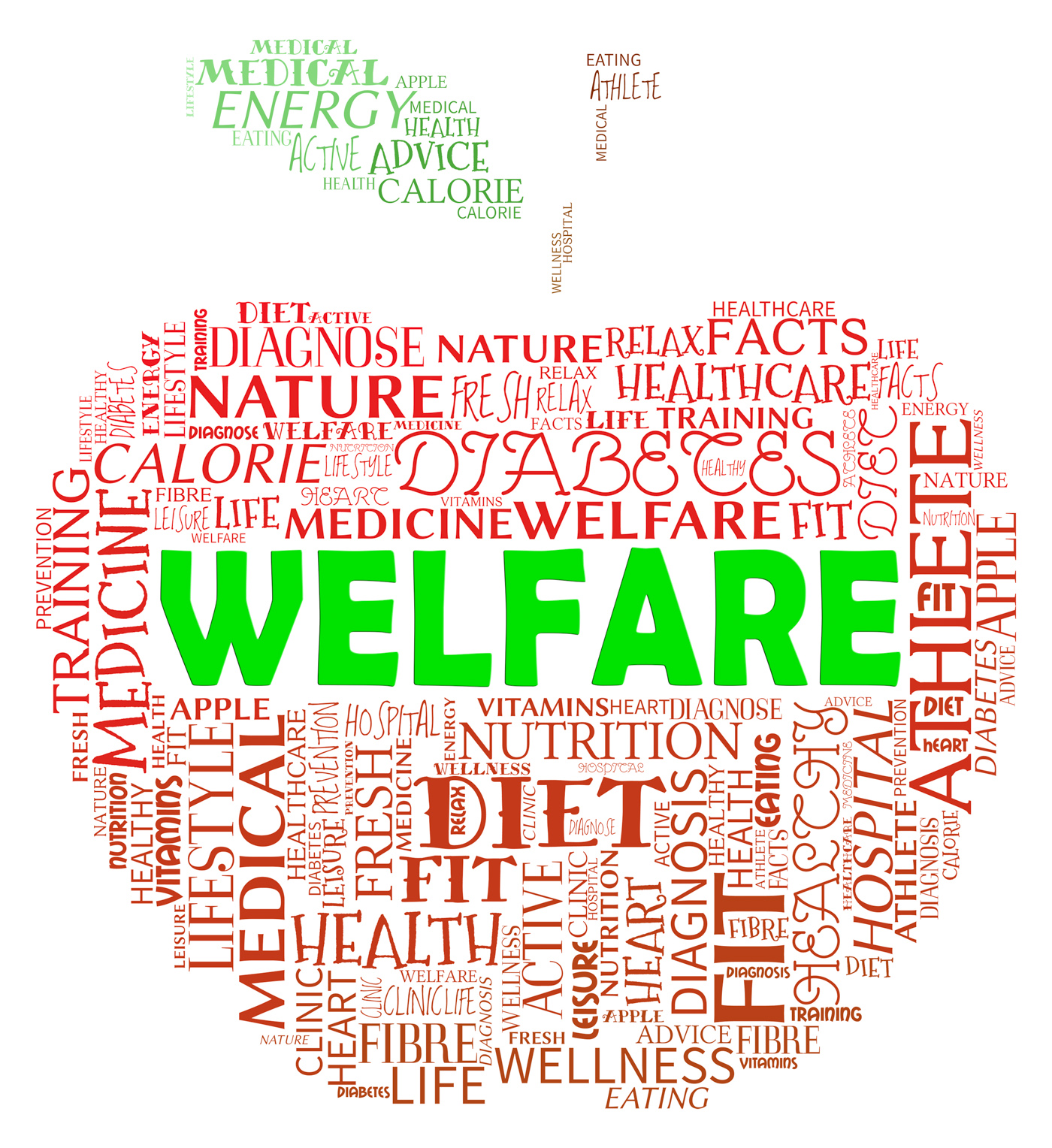 Welfare apple means health check and care photo