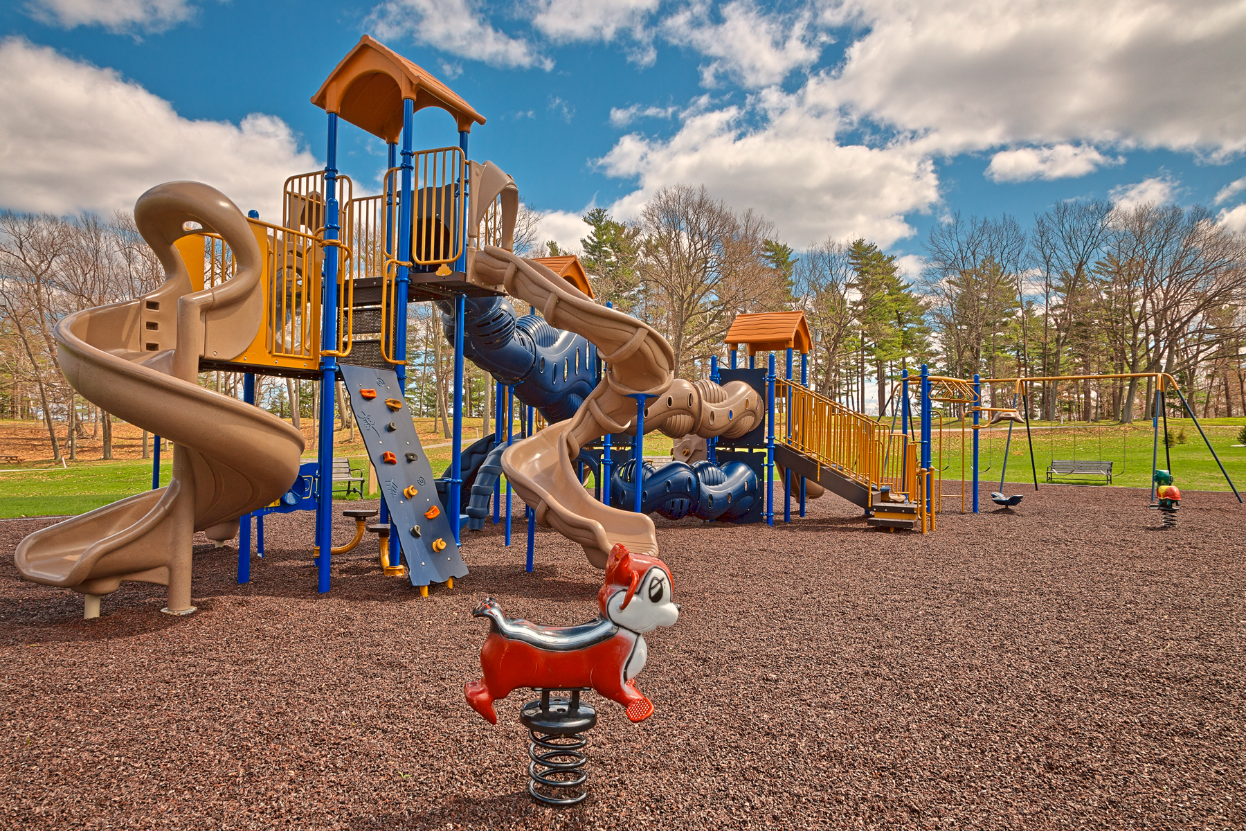 Wellesley island playground - hdr photo
