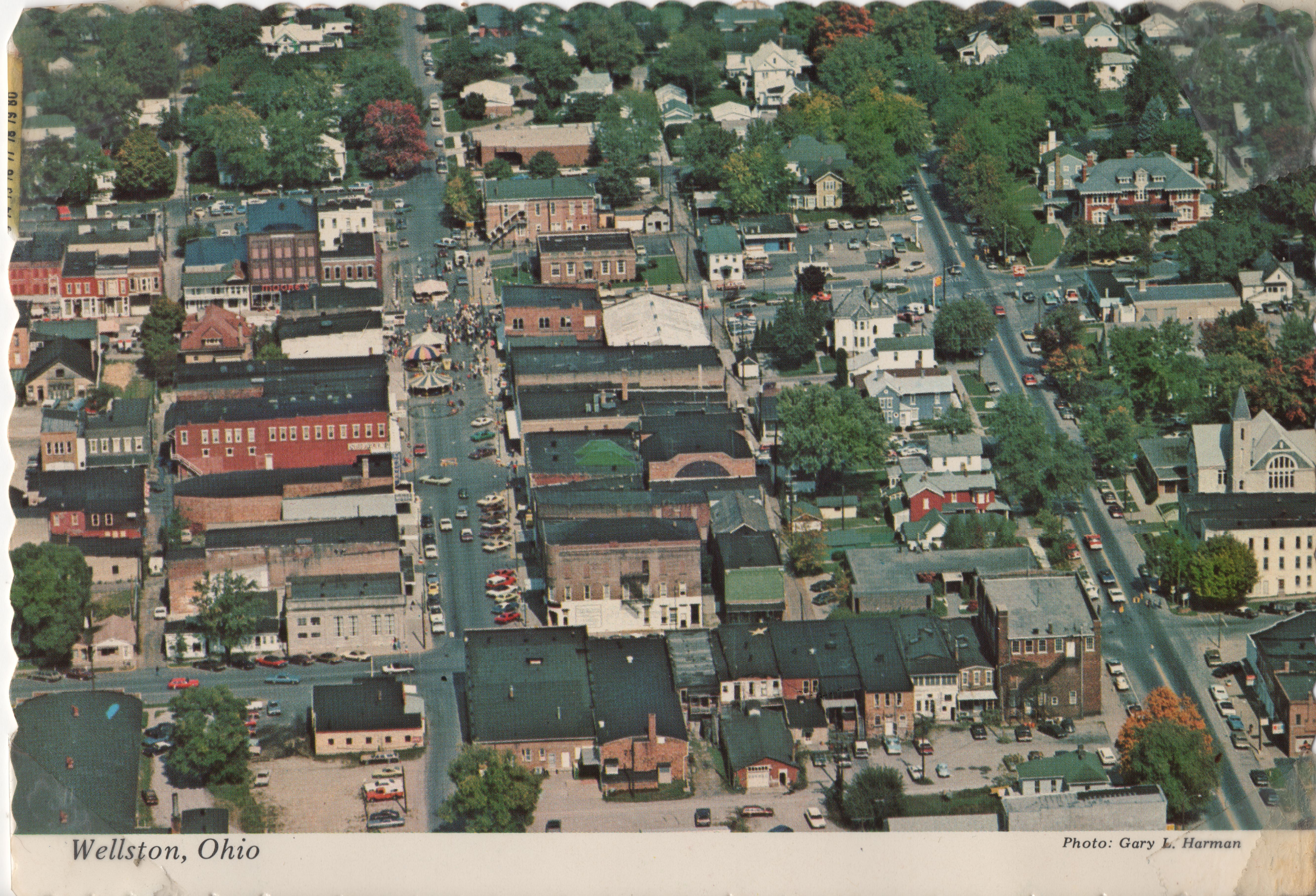 Wellston, Ohio vintage postcard front, 70s, Photograph, Town, Streets, HQ Photo