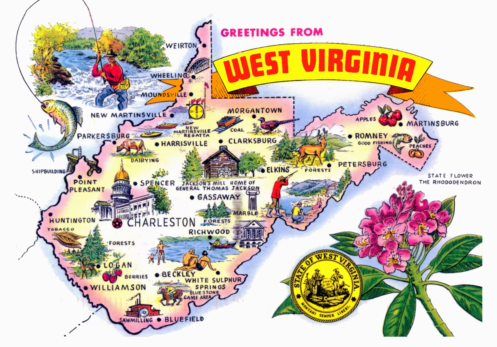 West Virginia State Maps | USA | Maps of West Virginia (WV)