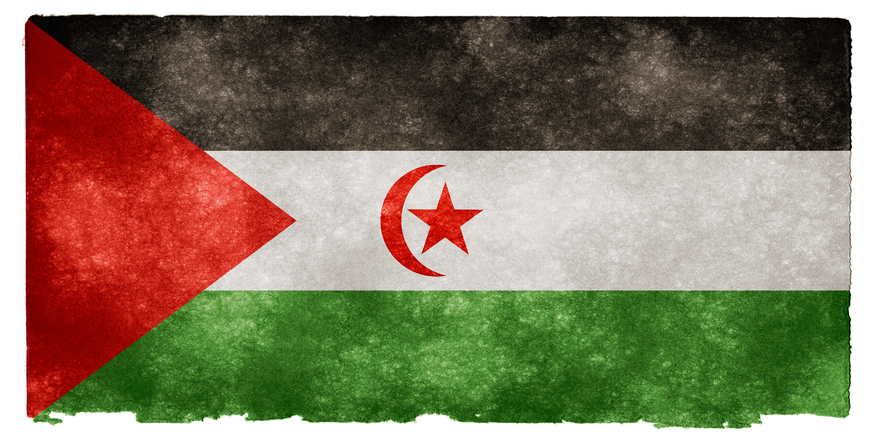 Western sahara grunge flag photo