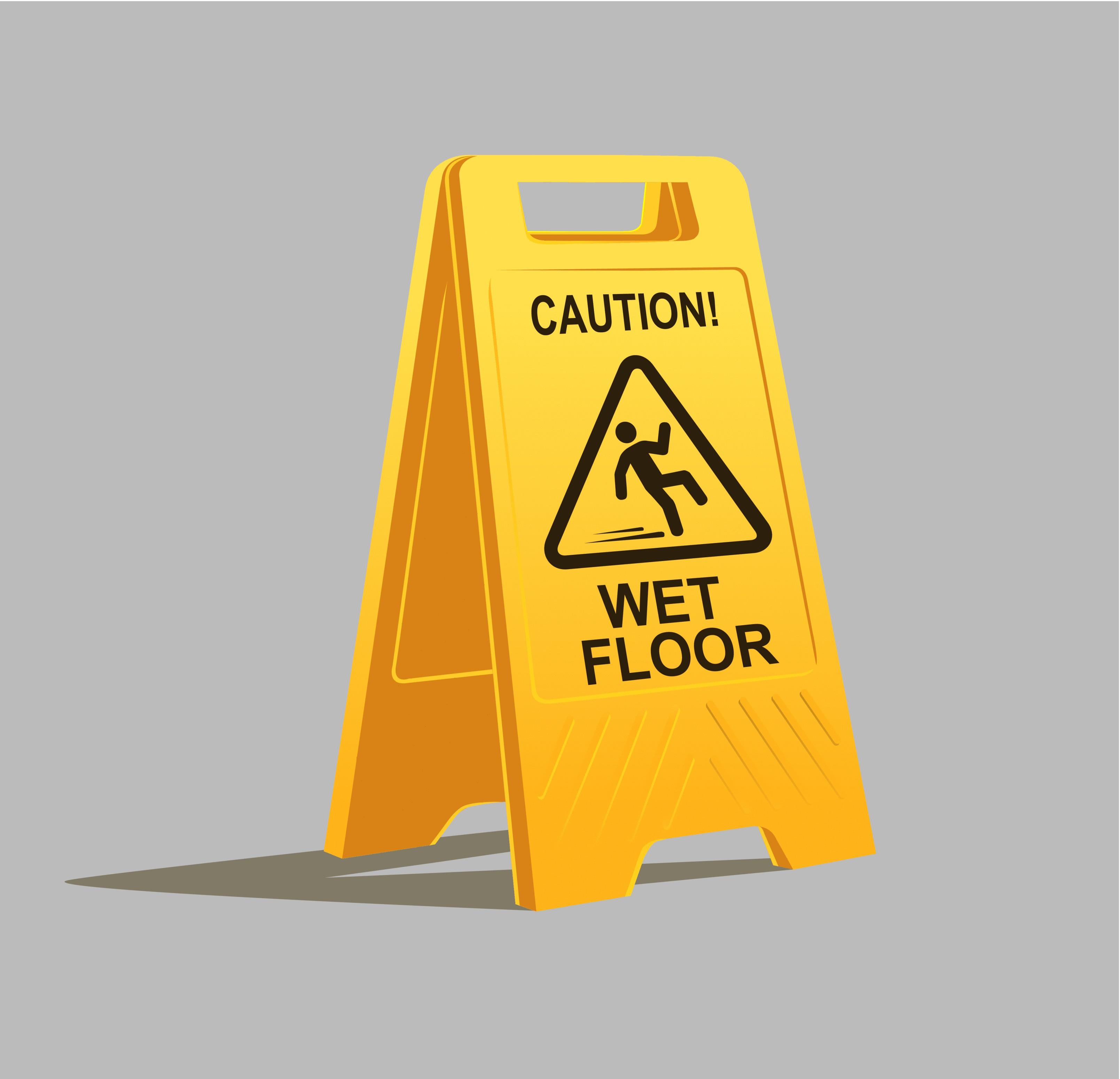 Metro mops floors slippery with snow