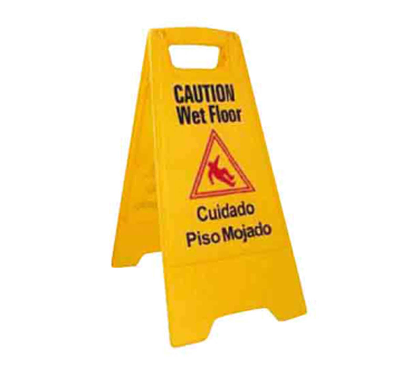 Winco WCS-25 Yellow Wet Floor Caution Sign | Culinary Depot