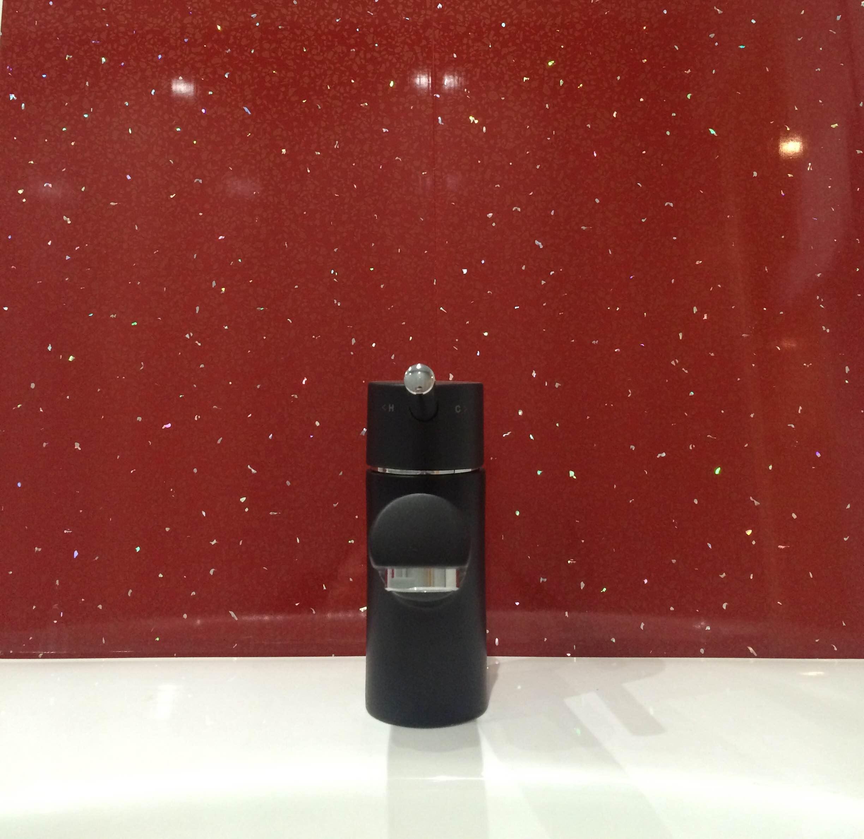 DBS Bathrooms | Red Sparkle Bathroom Wall Cladding