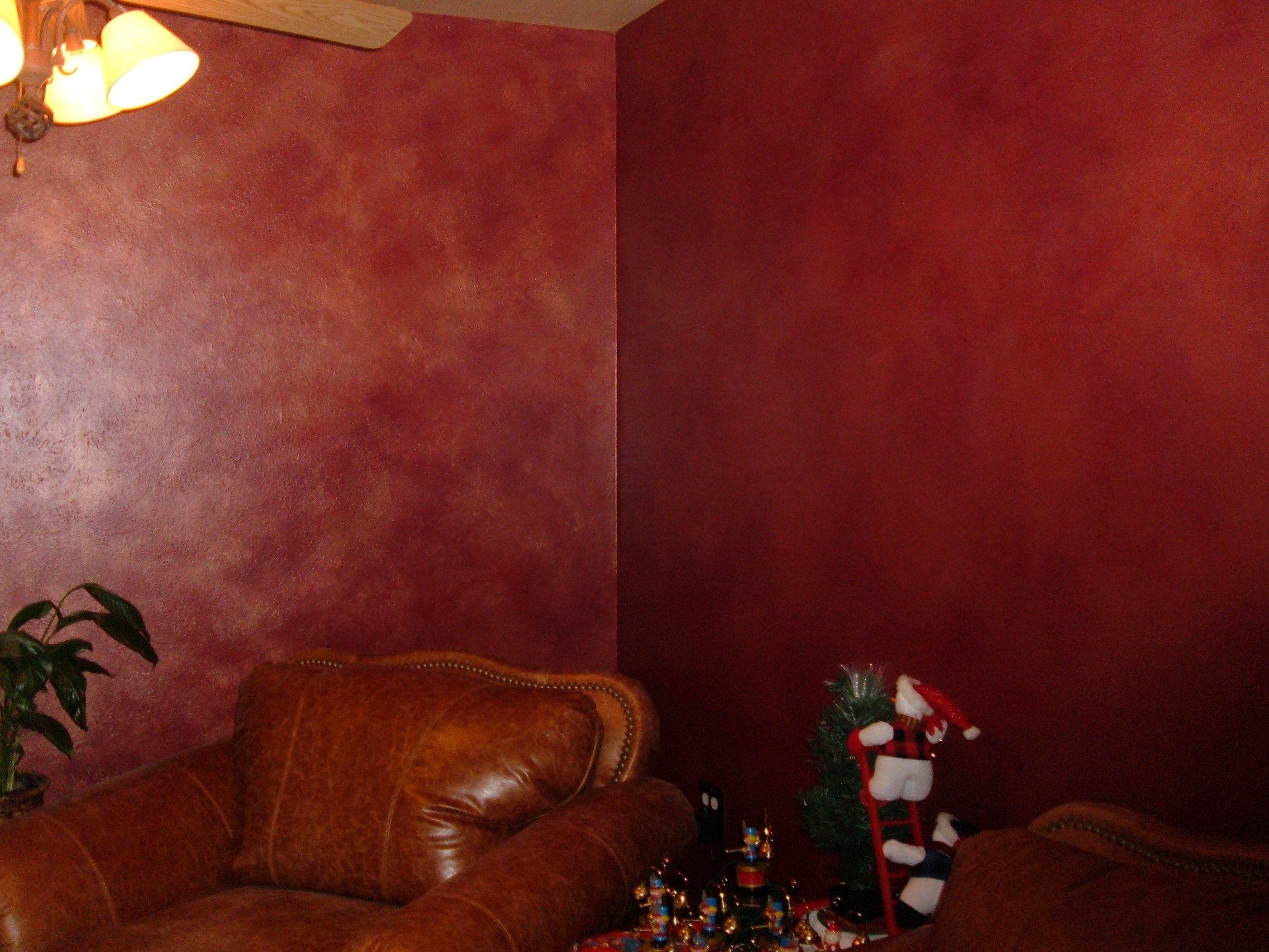 faux finish gold red walls | Decorative Trompe l'oeil Medallion | On ...